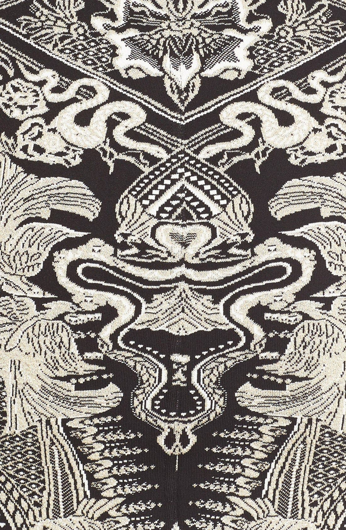 Alternate Image 3  - Roberto Cavalli Jacquard Knit Dress