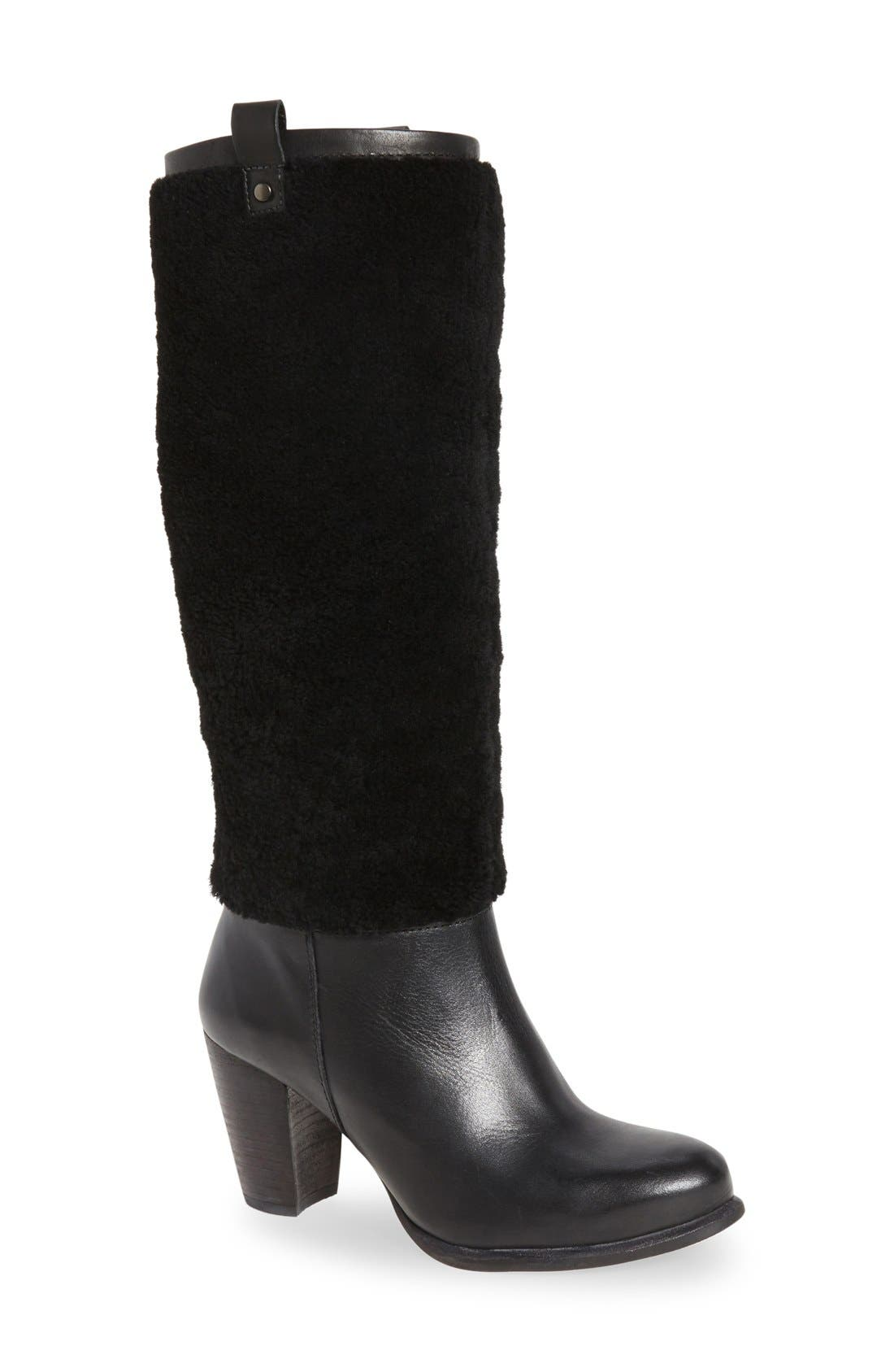 Alternate Image 1 Selected - UGG® Ava Genuine Shearling Boot (Women)