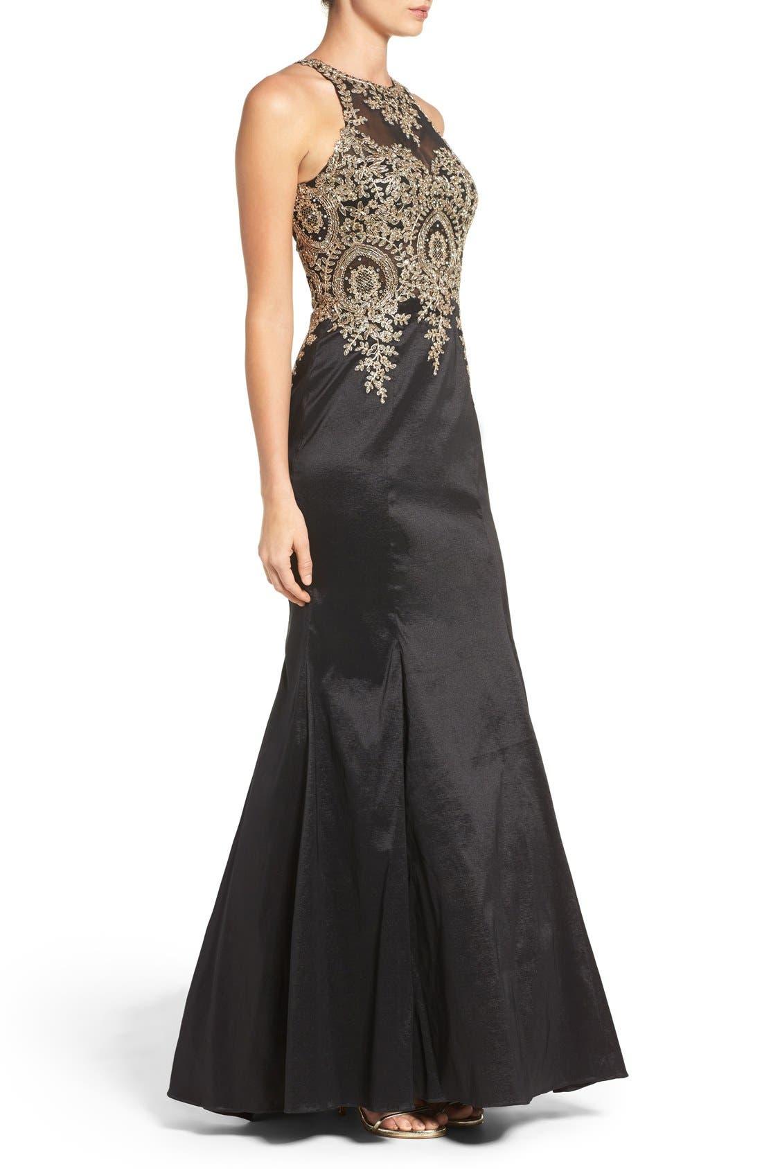 Alternate Image 3  - Xscape Embellished Taffeta Gown (Regular & Petite)