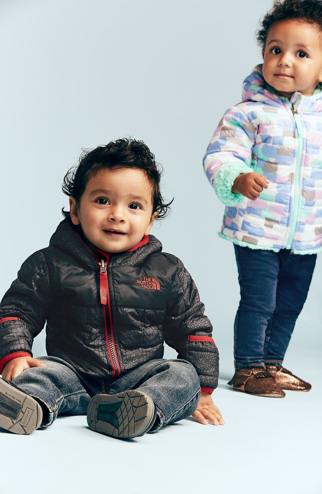 Alternate Image 2  - Tucker + Tate Denim Look Leggings (Baby Girls)