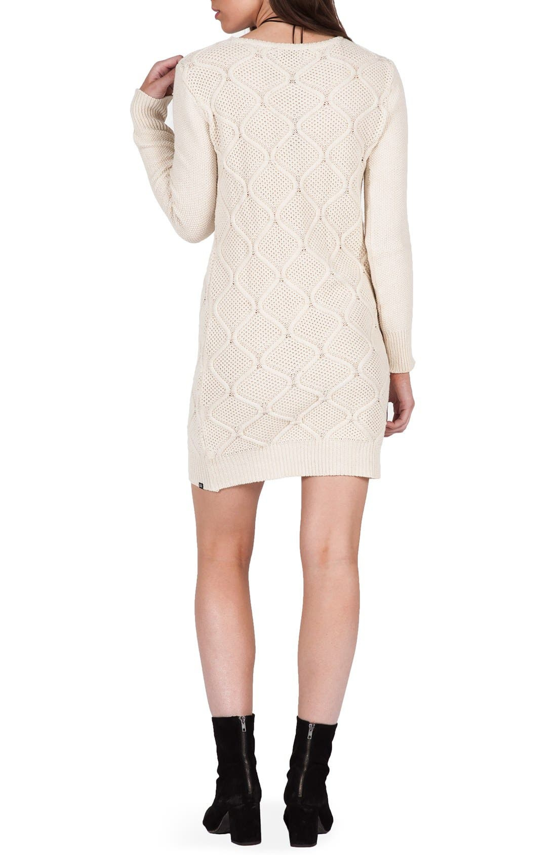 Alternate Image 2  - Volcom Chained Down Cable Sweater Dress