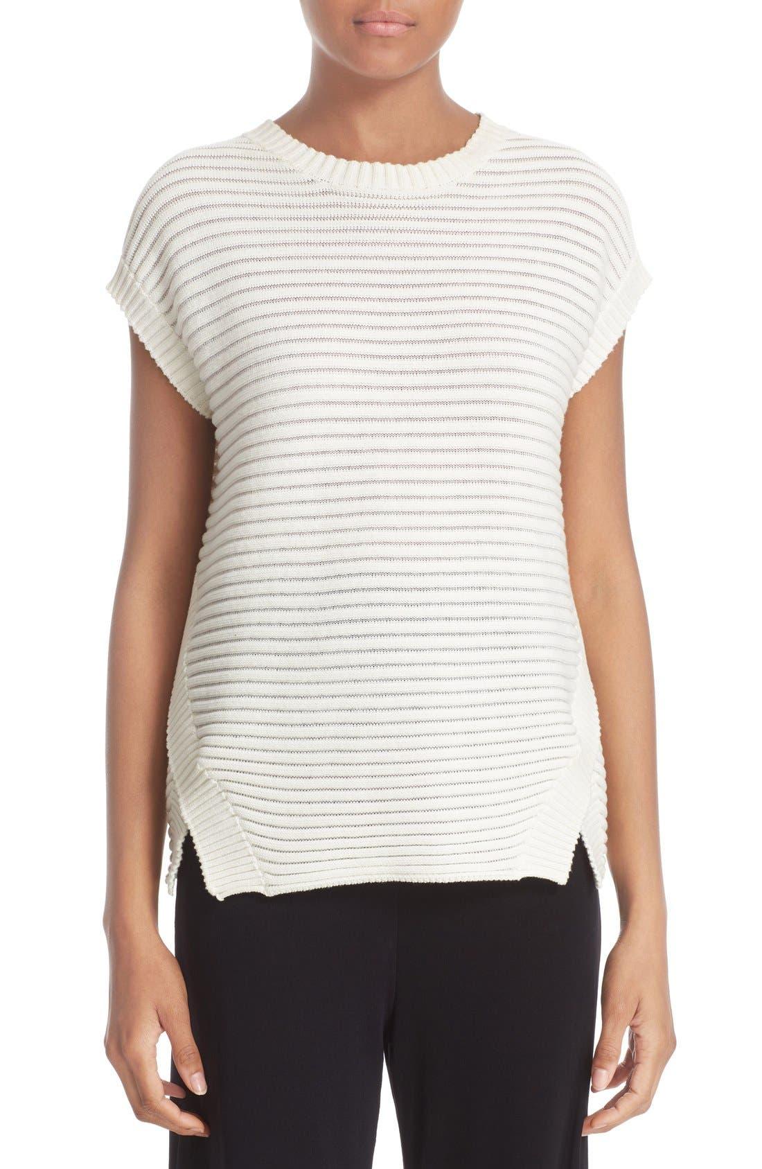 FUZZI Cap Sleeve Sweater