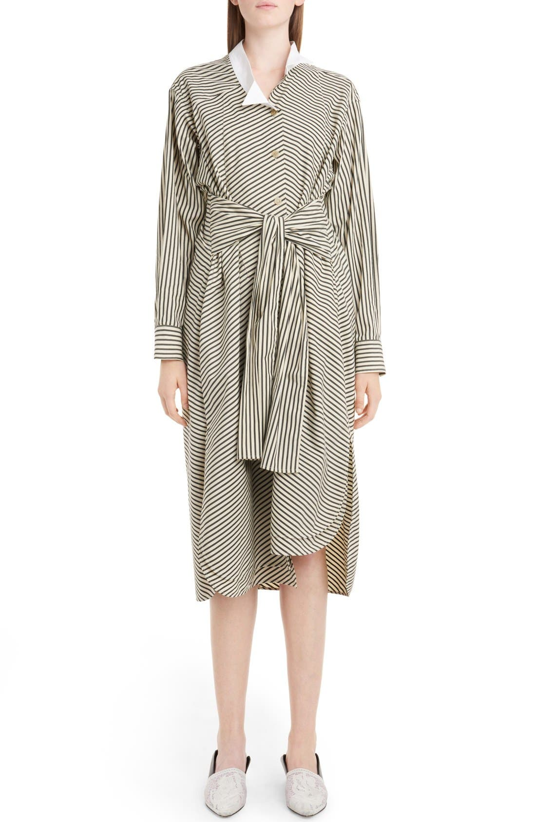 LOEWE Stripe Cotton Dress