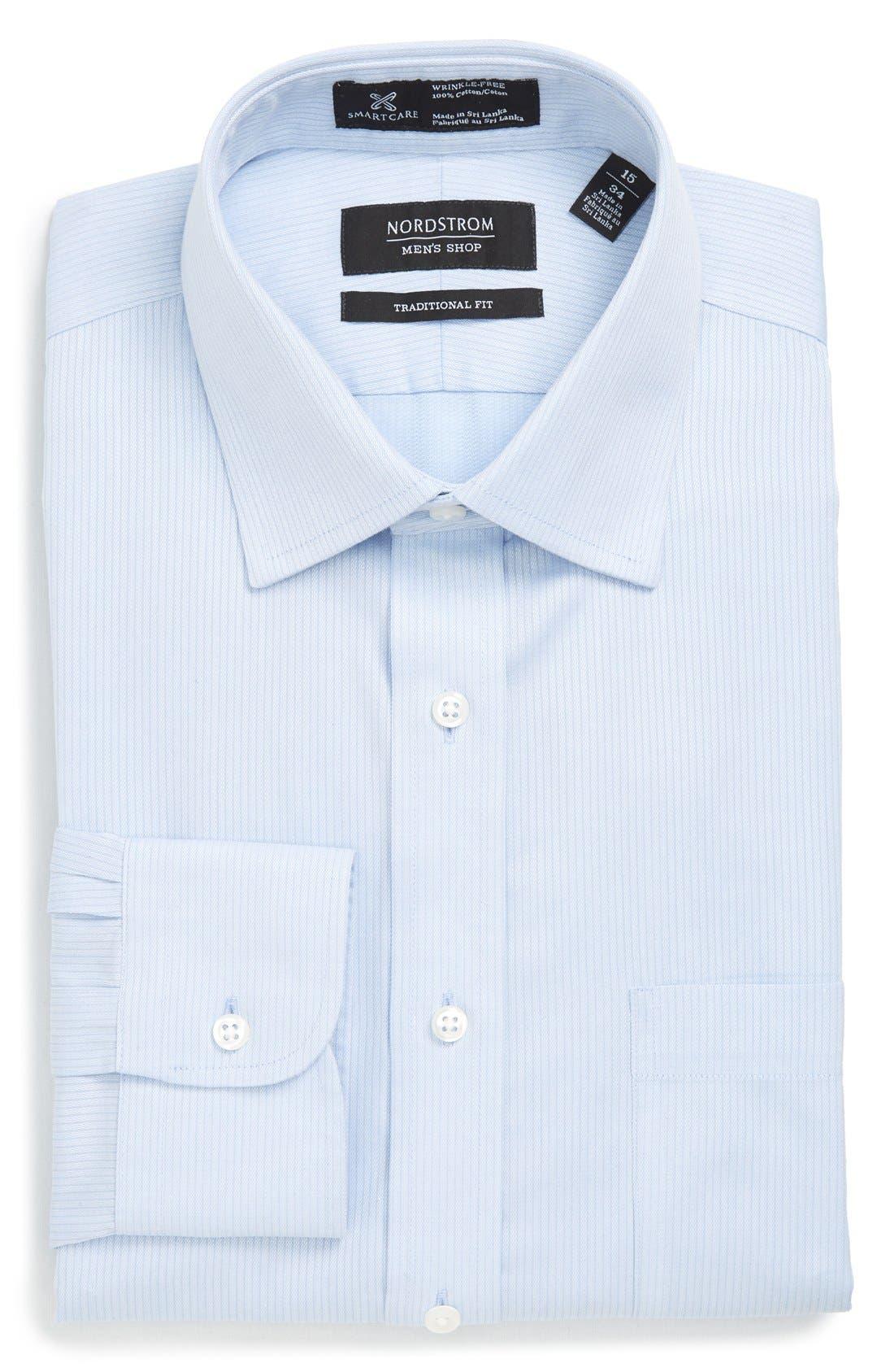 NORDSTROM MEN'S SHOP Smartcare™ Traditional Fit Stripe Dress
