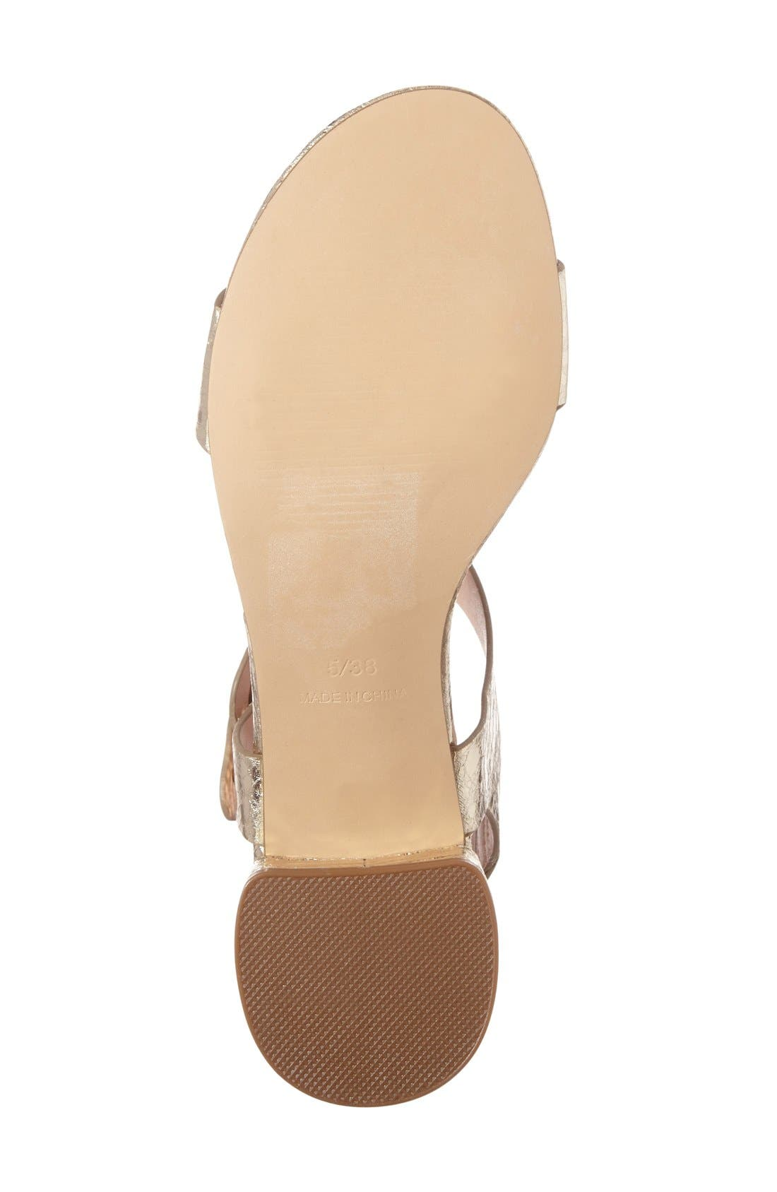 Alternate Image 4  - Topshop 'Dart' Block Heel Sandal (Women)