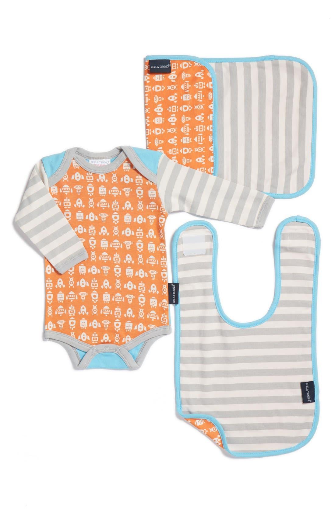 BELLA TUNNO Bodysuit, Bib & Burpie Cloth Set