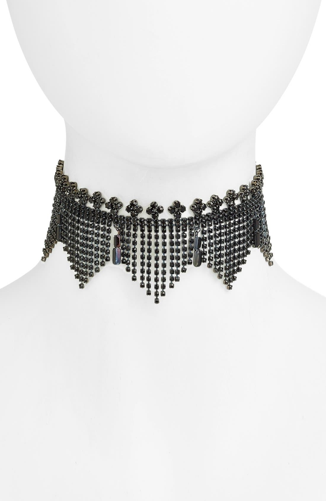 Alternate Image 1 Selected - Cristabelle Fringe Choker Necklace