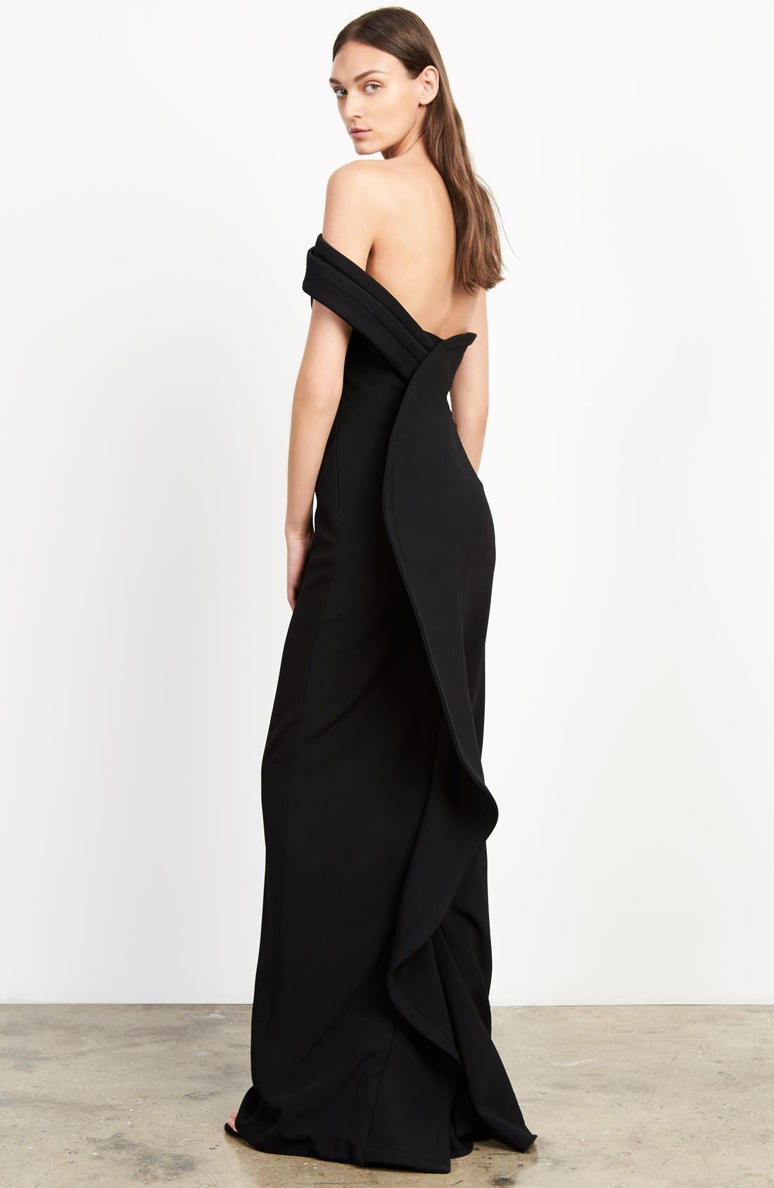 Alternate Image 6  - Brandon Maxwell 'Cady' Off the Shoulder Column Gown
