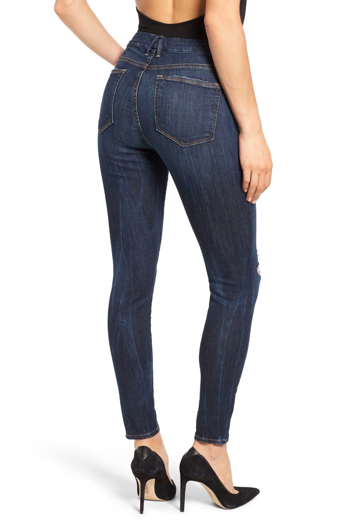 Alternate Image 2  - Good American Good Legs Ripped Skinny Jeans