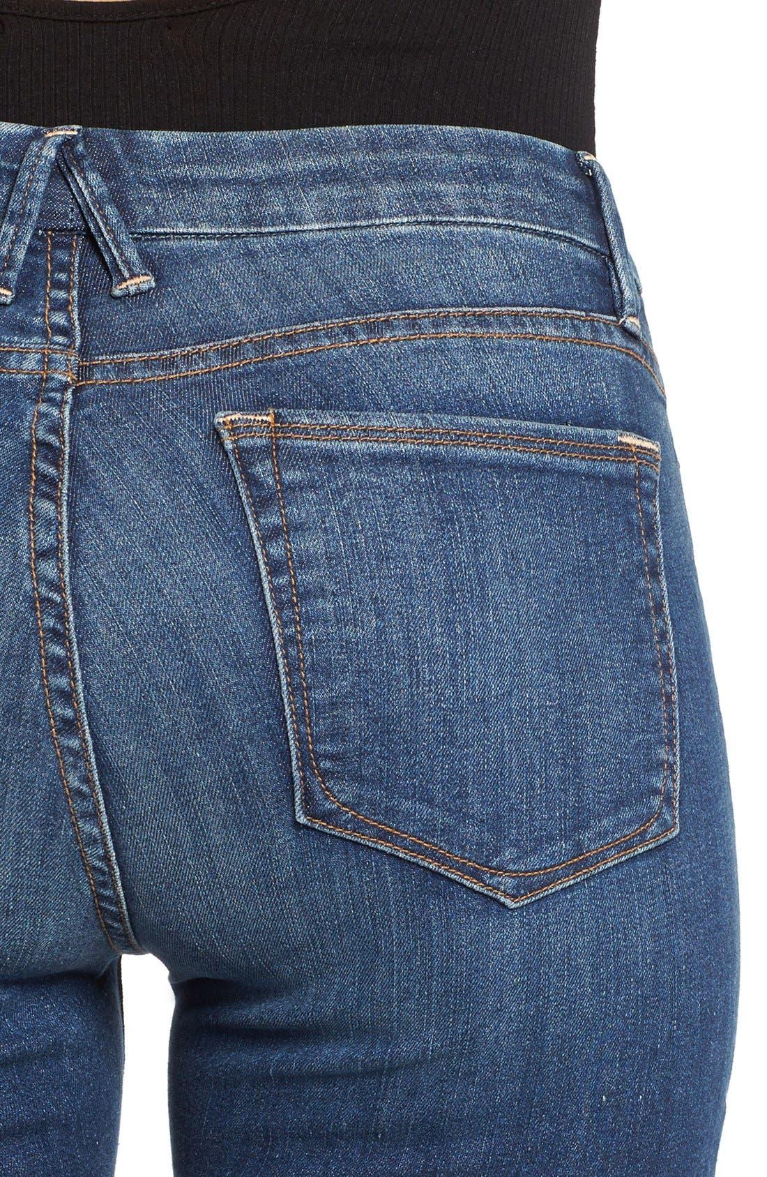 Alternate Image 4  - Good American Good Legs High Rise Crop Released Hem Skinny Jeans