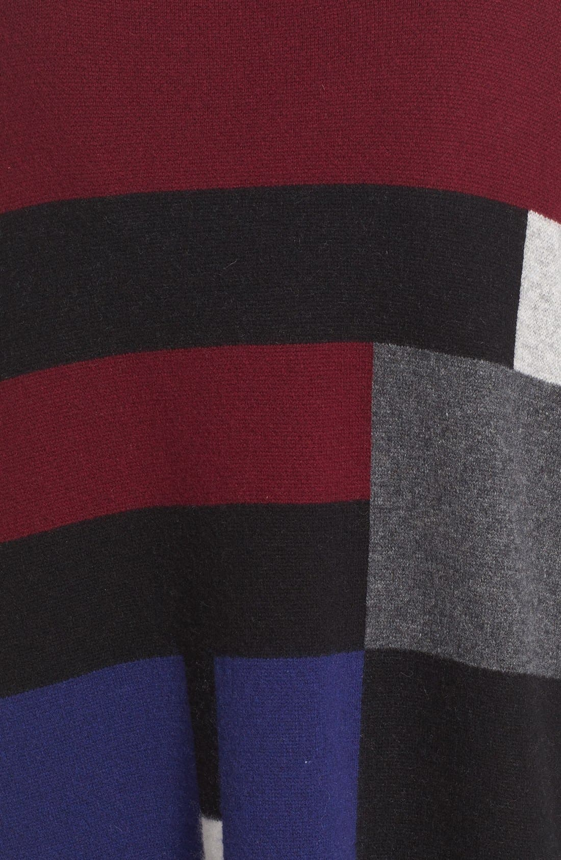 Alternate Image 3  - Burberry Halladale Check Knit Wool & Cashmere Wrap