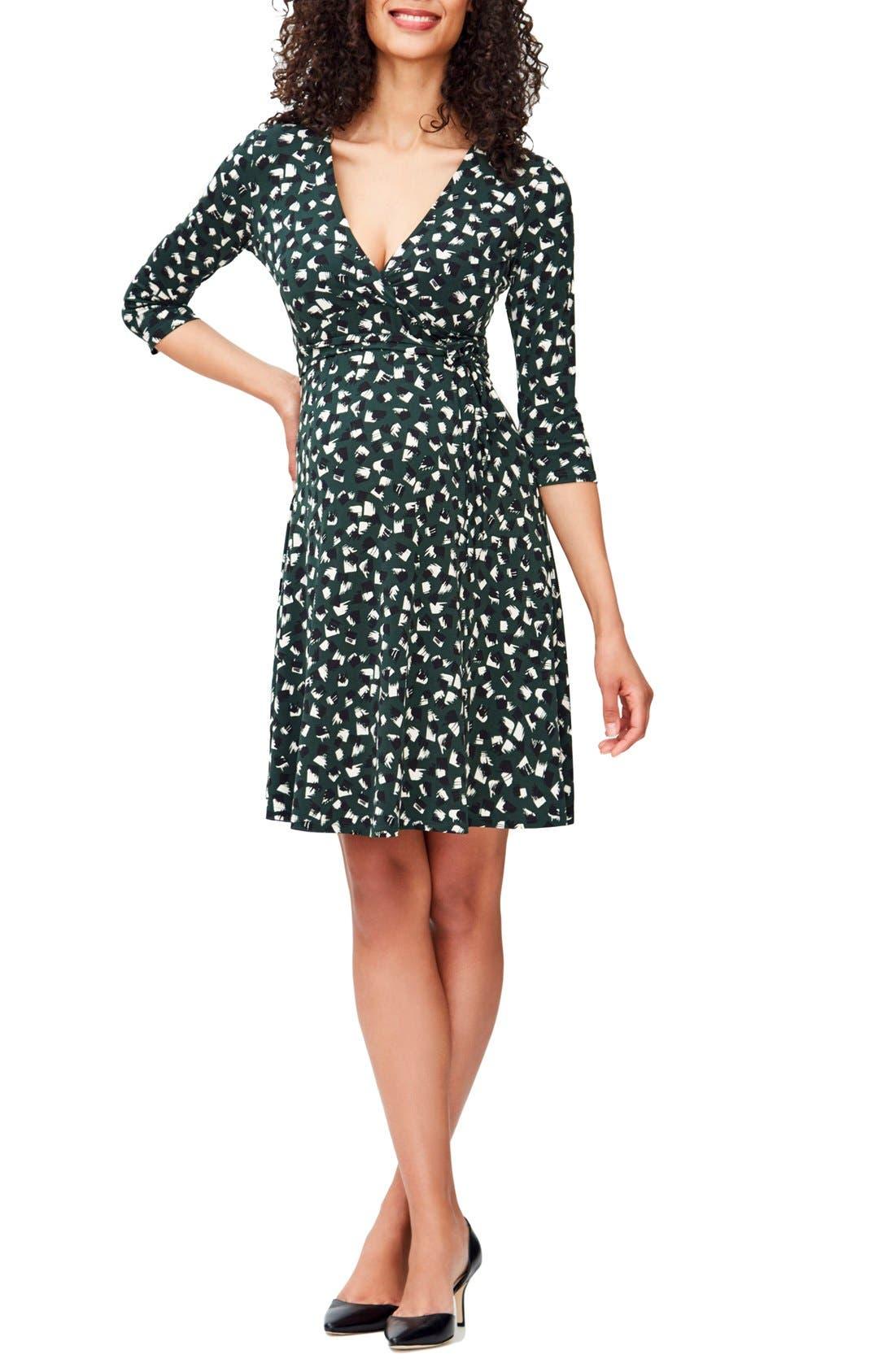Leota 'Perfect Wrap' Maternity Dress