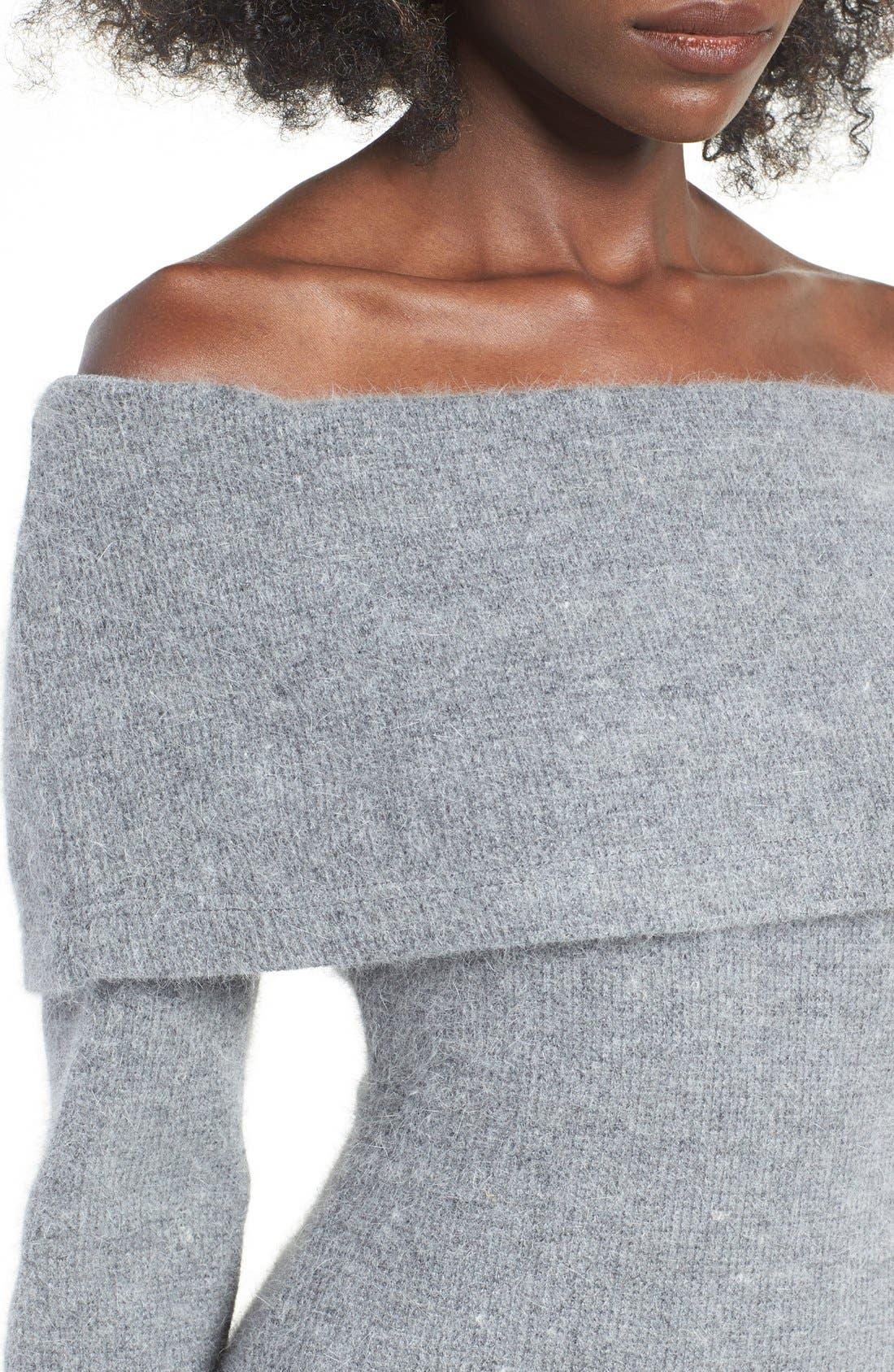 Alternate Image 4  - J.O.A. Off the Shoulder Sweater Dress