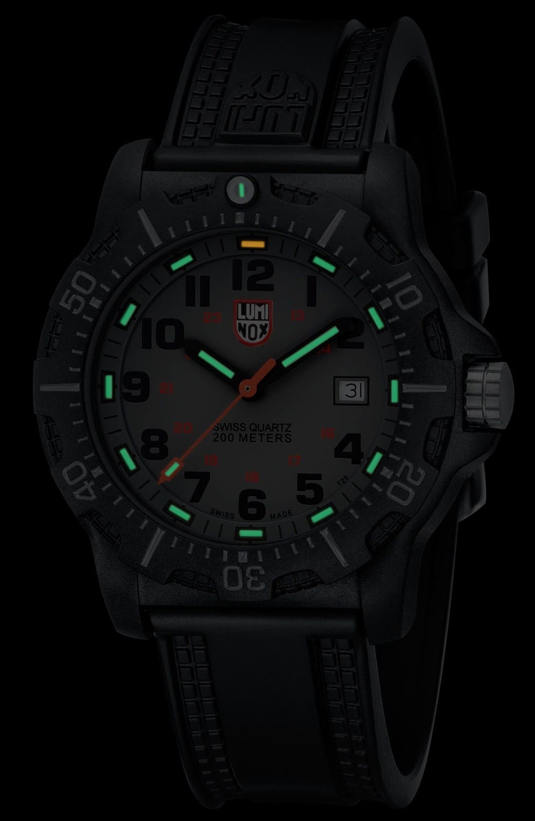 Alternate Image 2  - Luminox Black Ops Carbon Silicon Strap Watch, 45mm