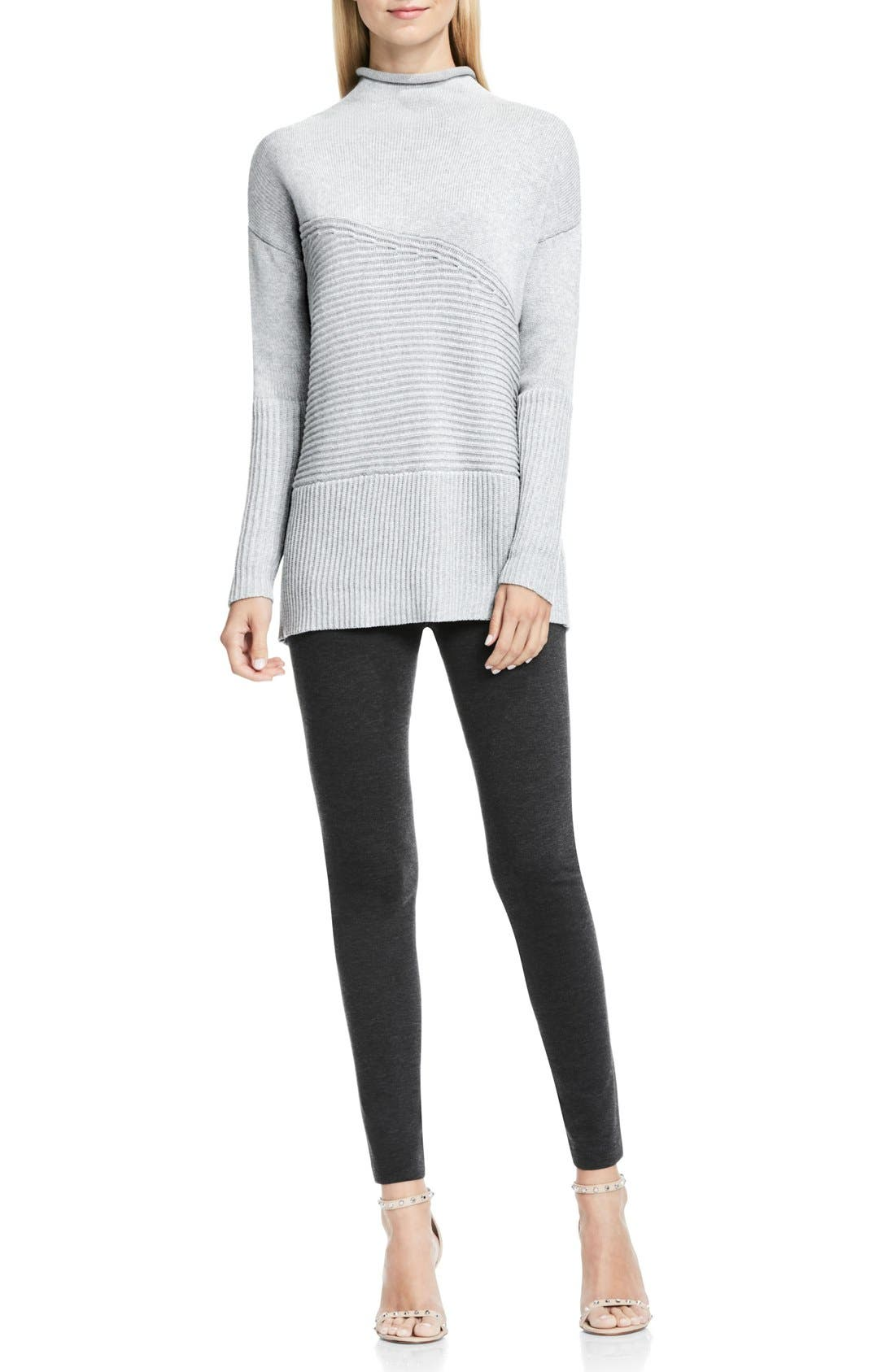 Alternate Image 2  - Vince Camuto Rib Knit Turtleneck Sweater (Regular & Petite)