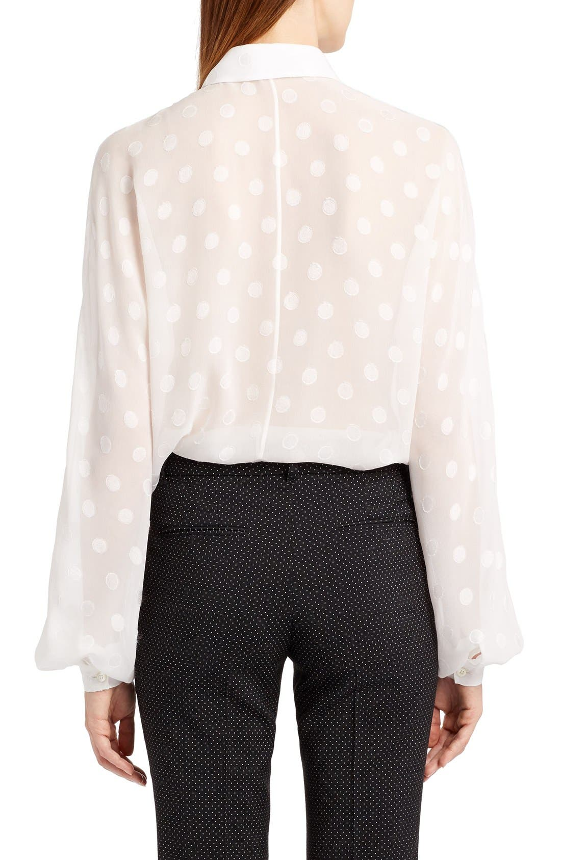 Alternate Image 2  - Dolce&Gabbana Dot Fil Coupé Blouse