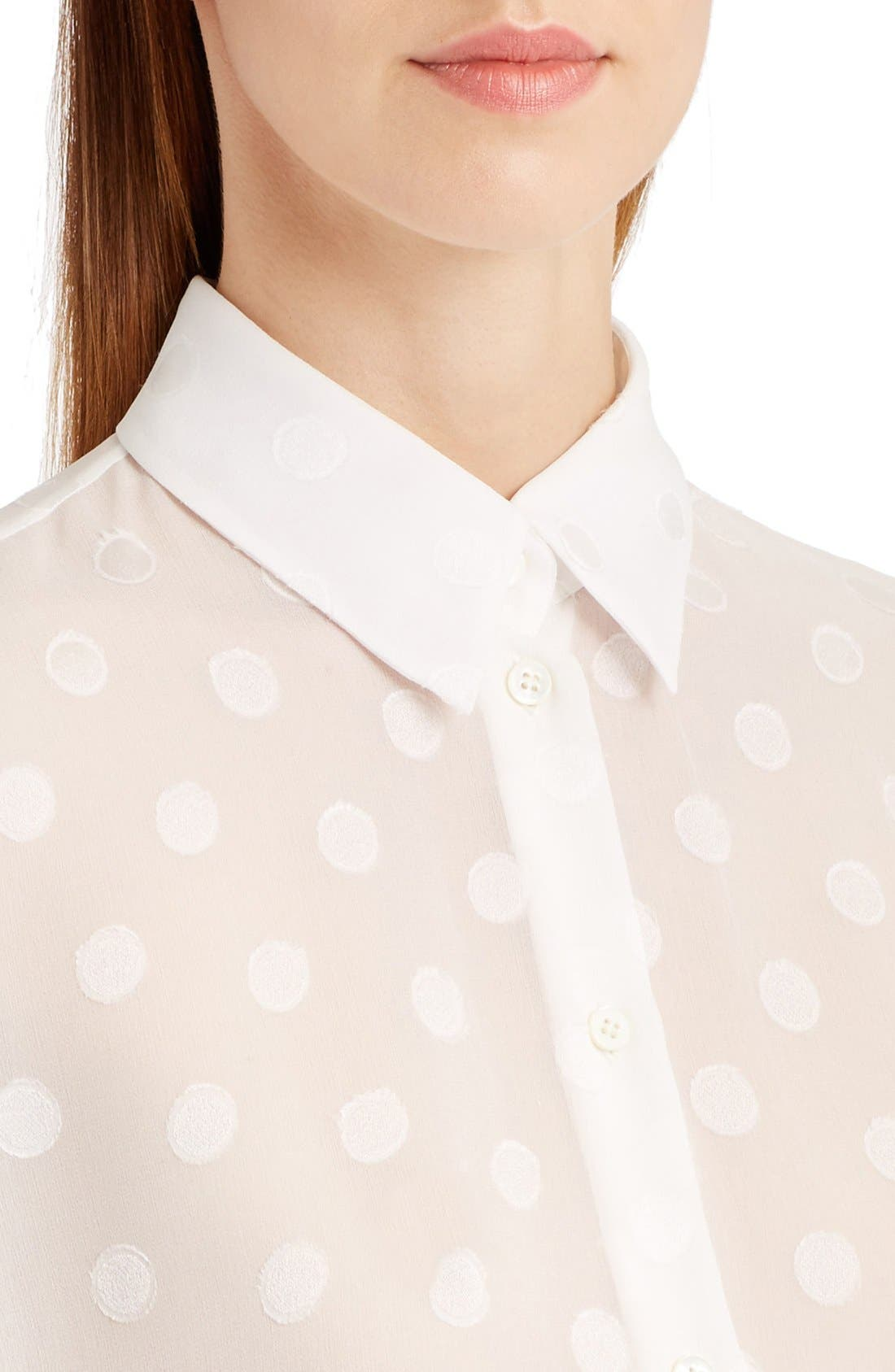 Alternate Image 6  - Dolce&Gabbana Dot Fil Coupé Blouse