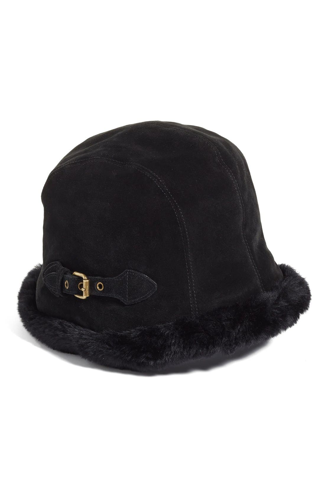 ERIC JAVITS Vail Water Repellent Suede Cloche with