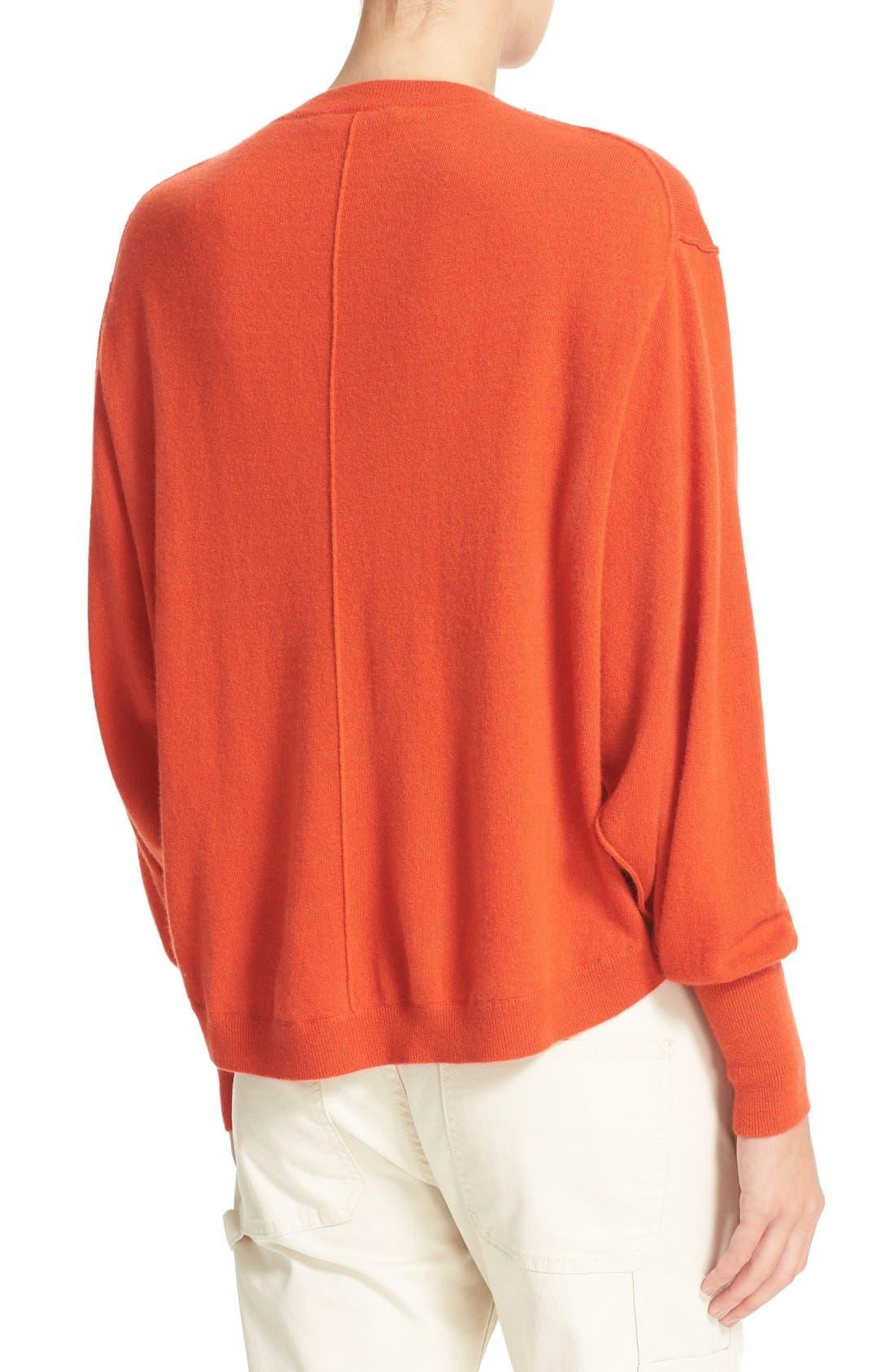 Alternate Image 2  - Vince Shirttail Cashmere Sweater