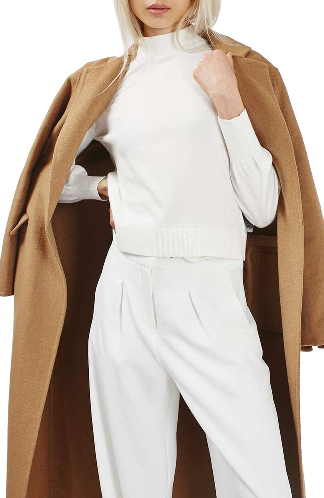 Alternate Image 5  - Topshop Butted Seam Duster Coat