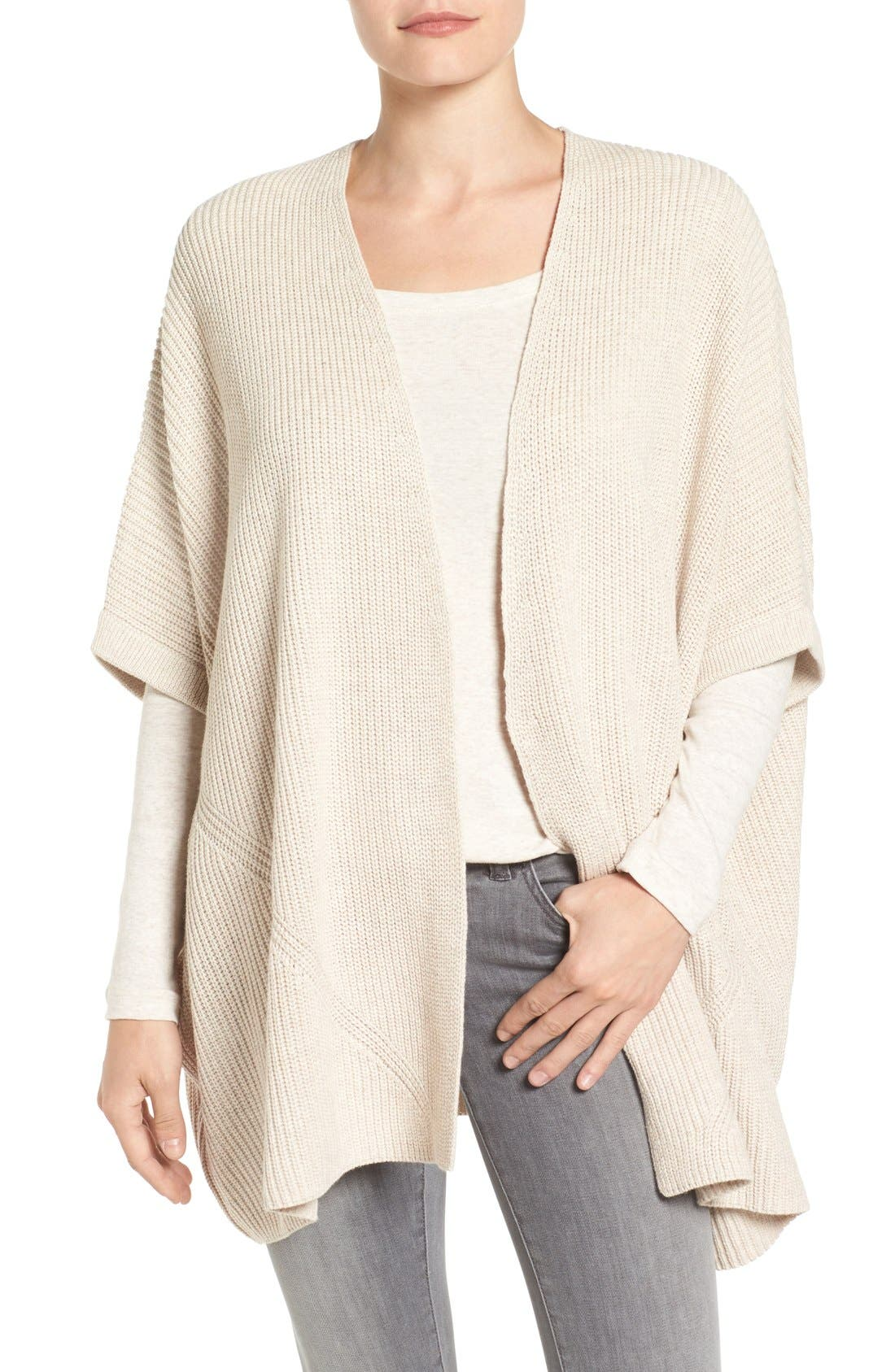 Alternate Image 1 Selected - Halogen® Open Front Cardigan