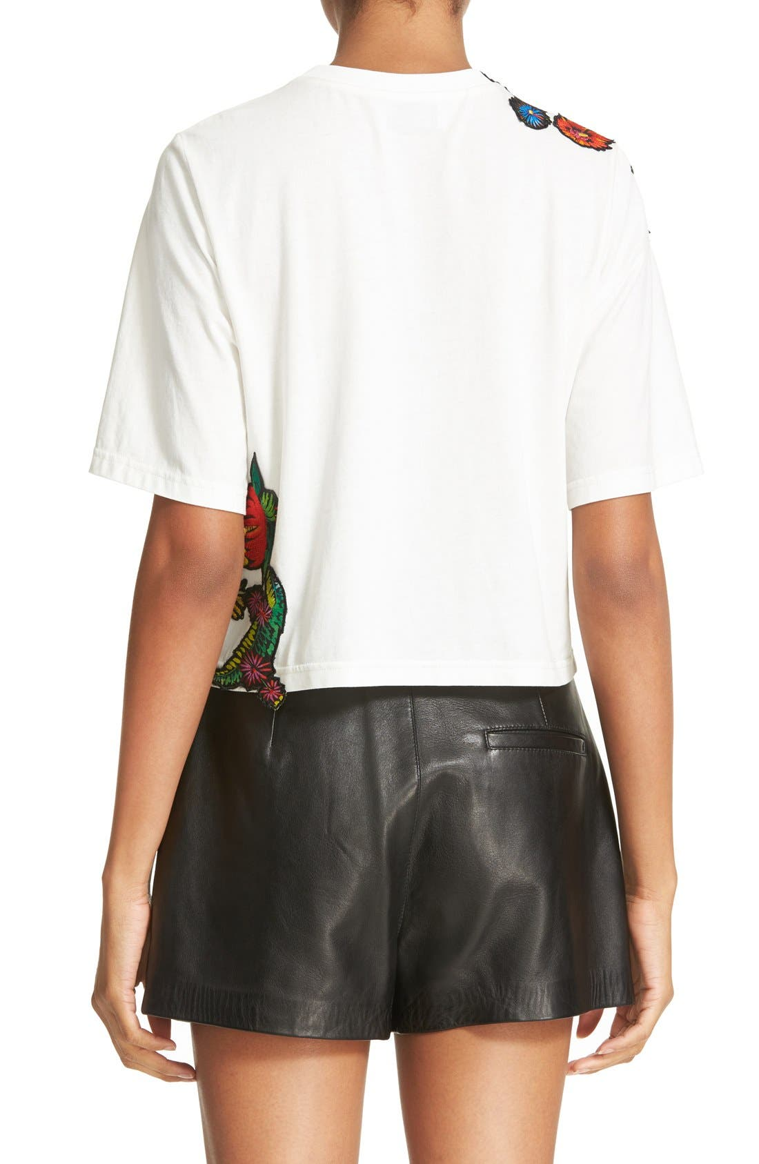 Alternate Image 2  - 3.1 Phillip Lim Embroidered Floral Patch Tee