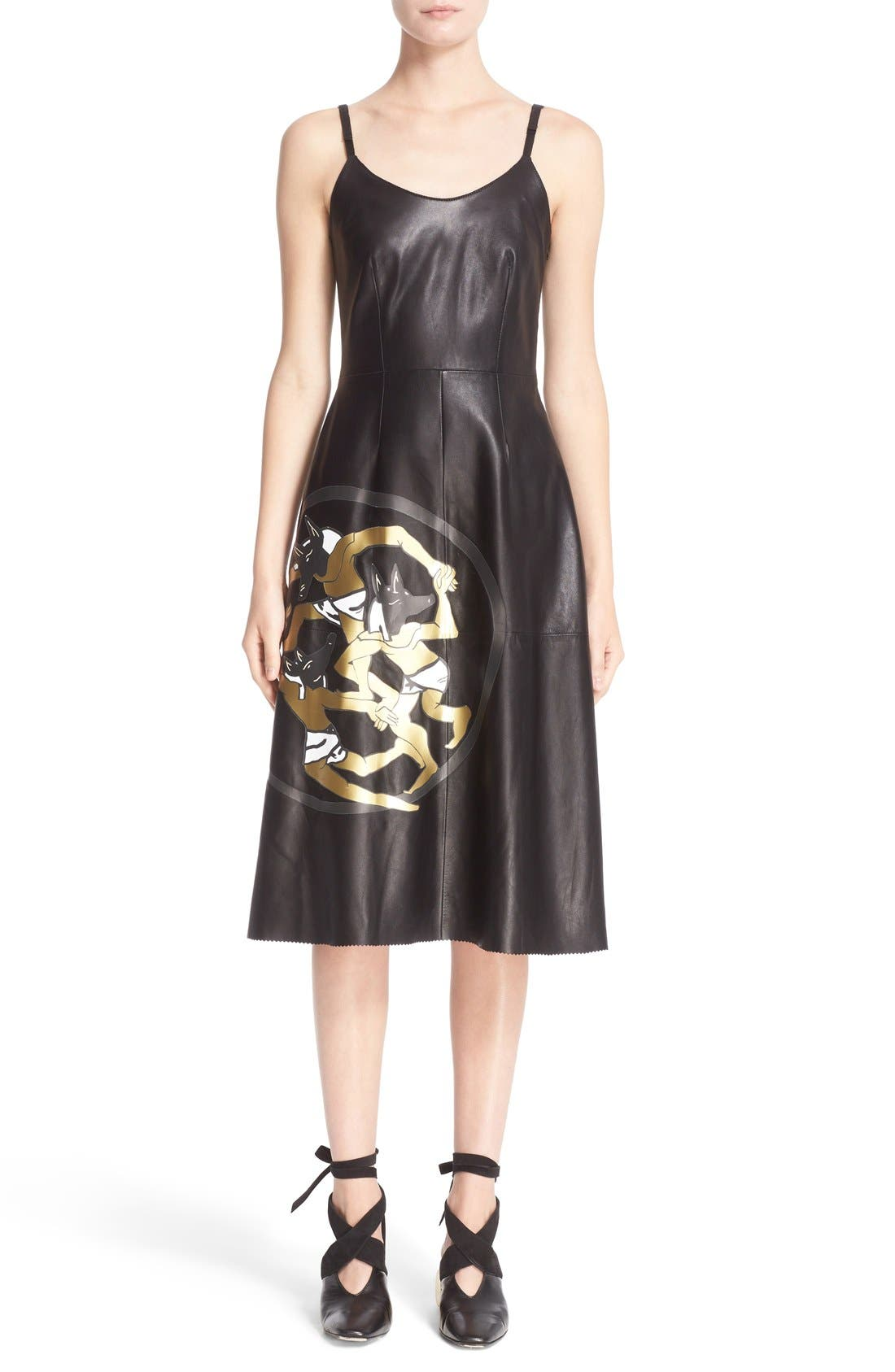 J.W.ANDERSON Dancing Wolves Leather Dress