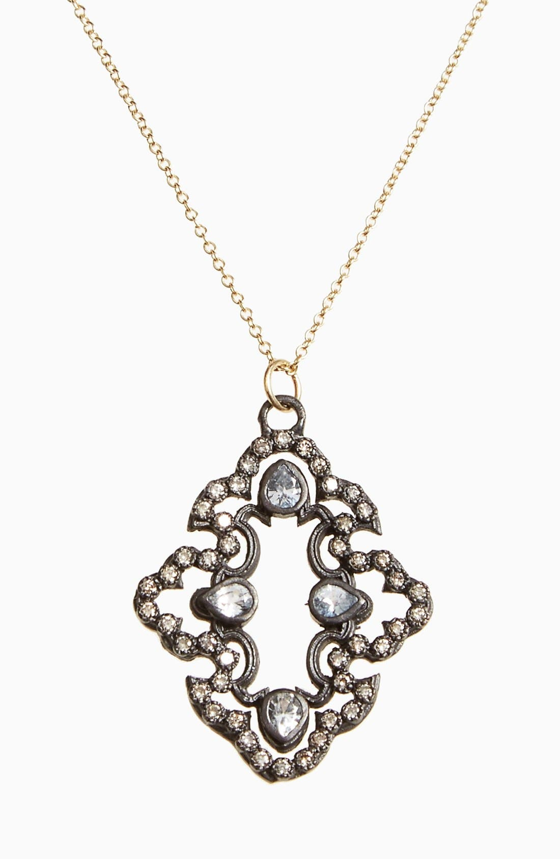 ARMENTA Old World Diamond Scroll Pendant Necklace