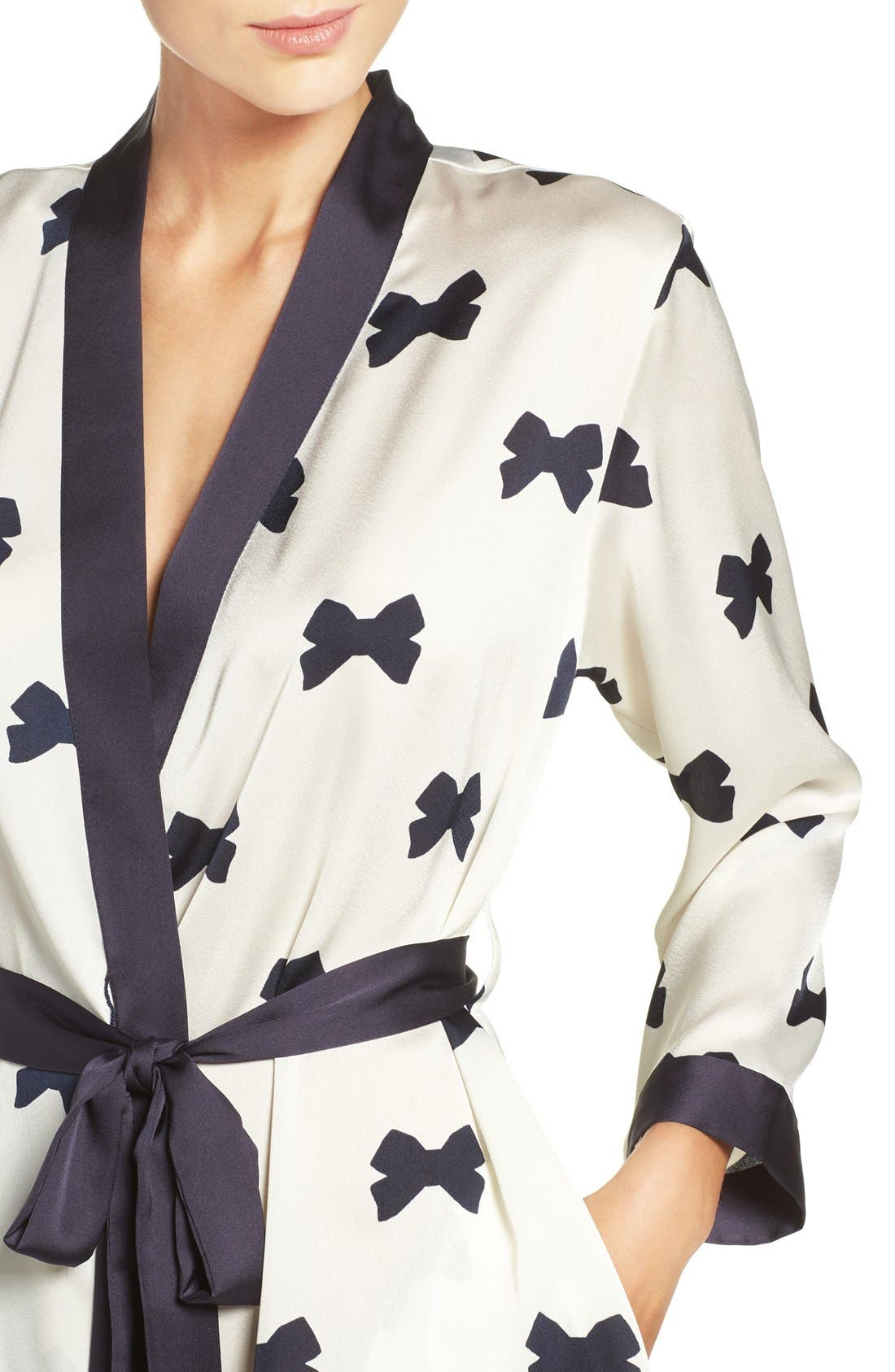 Alternate Image 4  - kate spade new york bow print robe