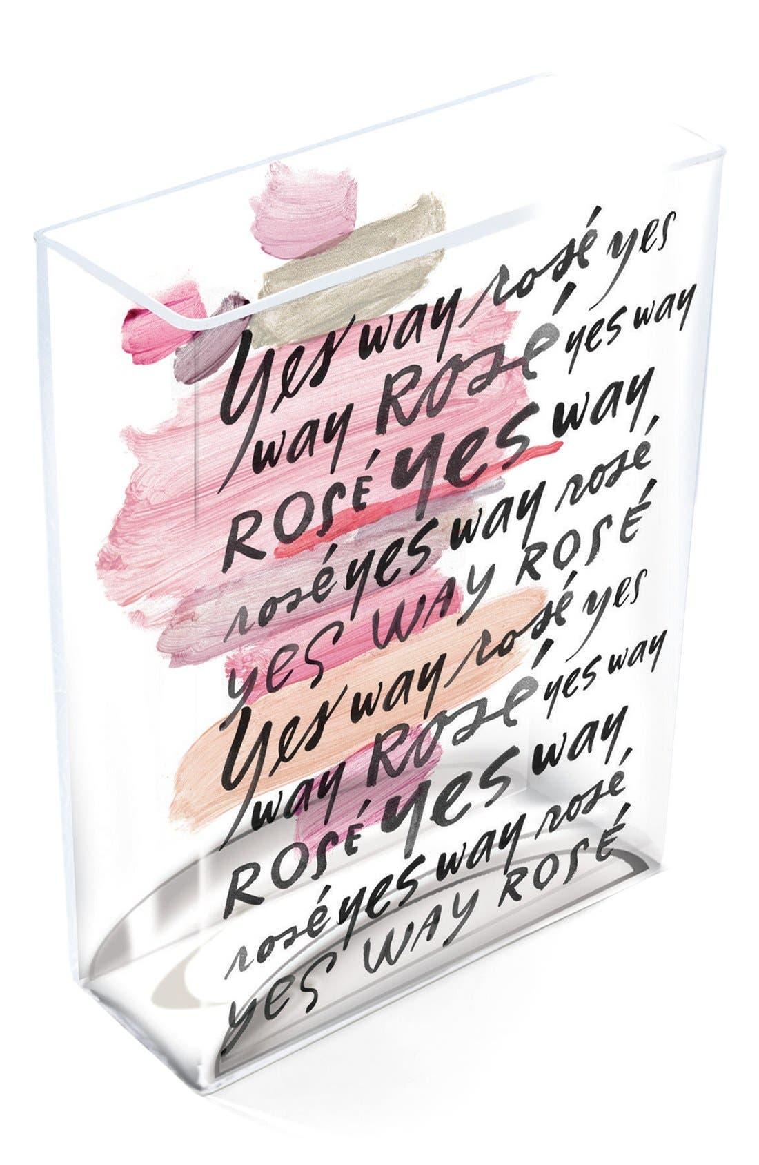 FRINGE STUDIO Yes Way Rosé Glass Vase
