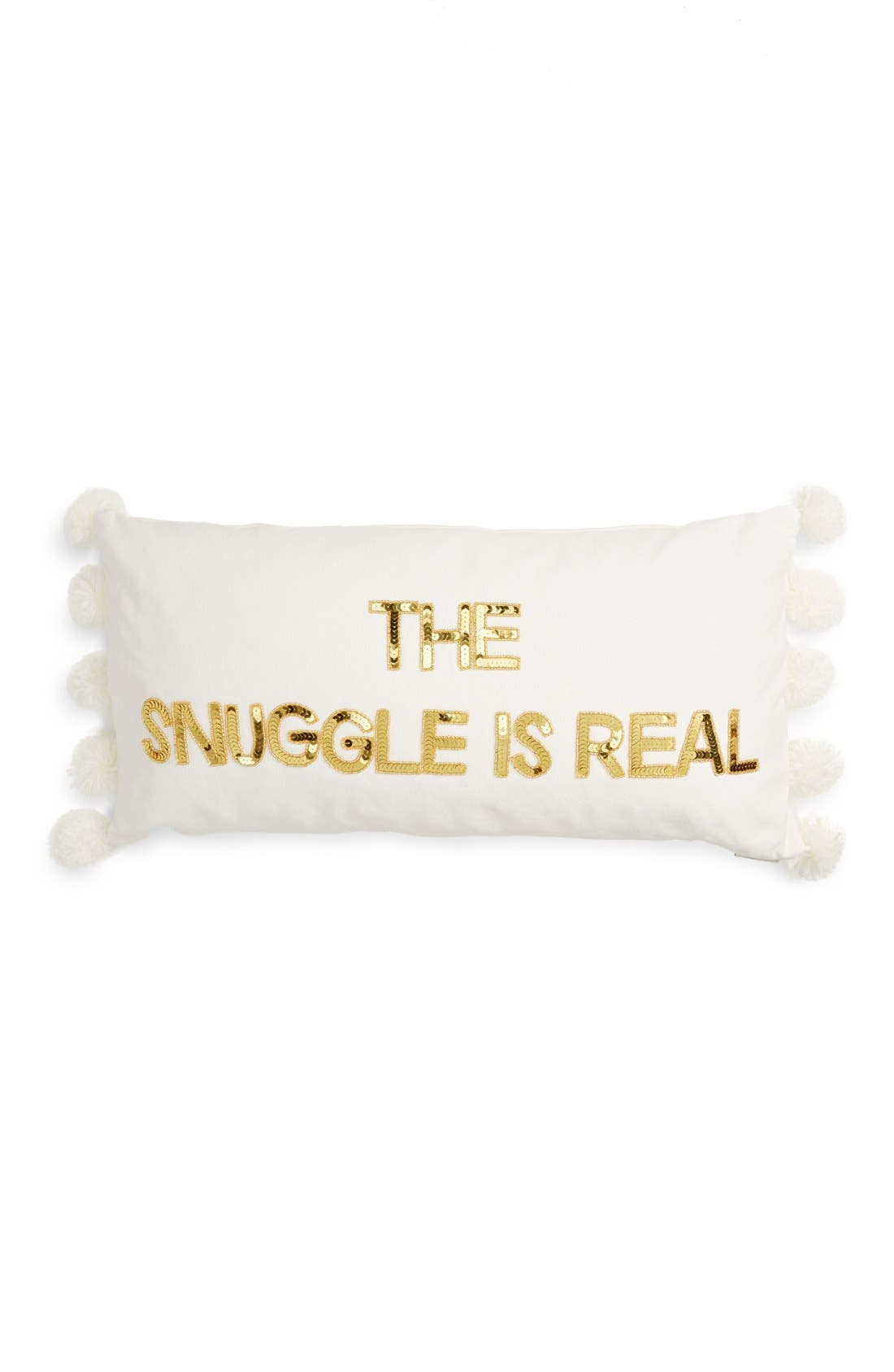 Alternate Image 1 Selected - Bow & Drape Snuggle is Real Acccent Pillow