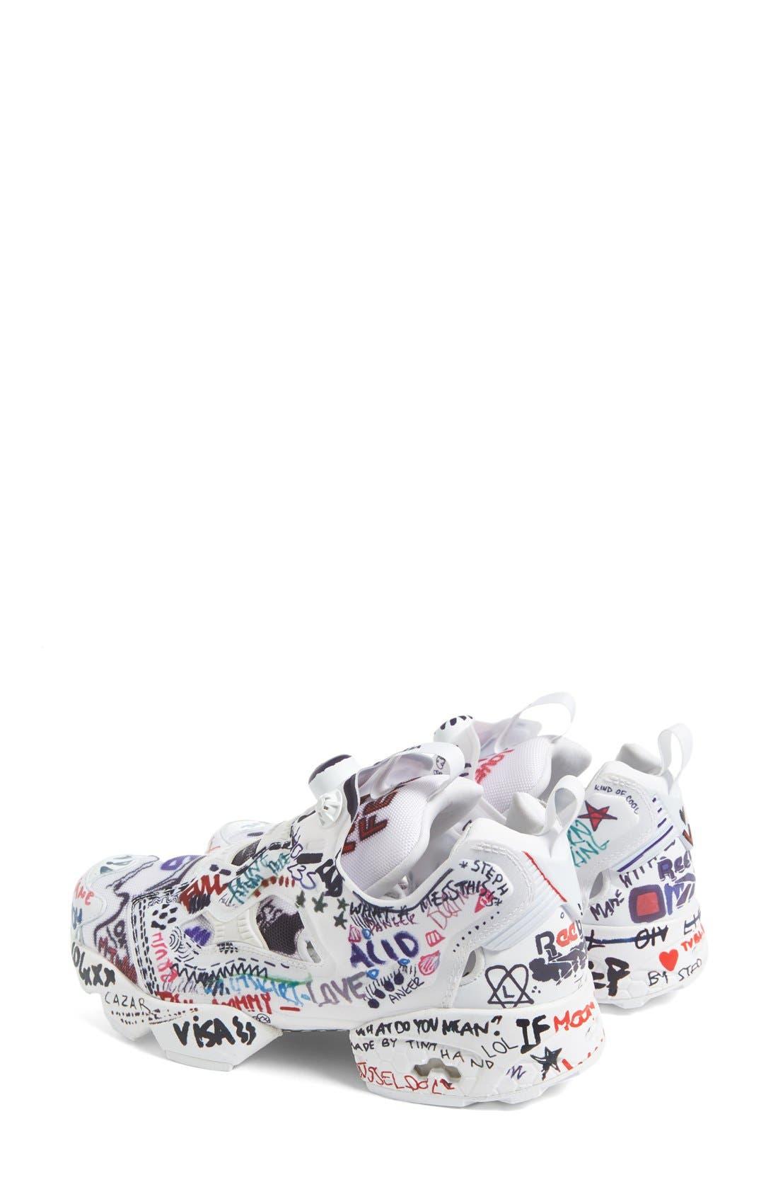 Alternate Image 2  - Vetements x Reebok Graffiti Instapump Fury Sneaker (Women)
