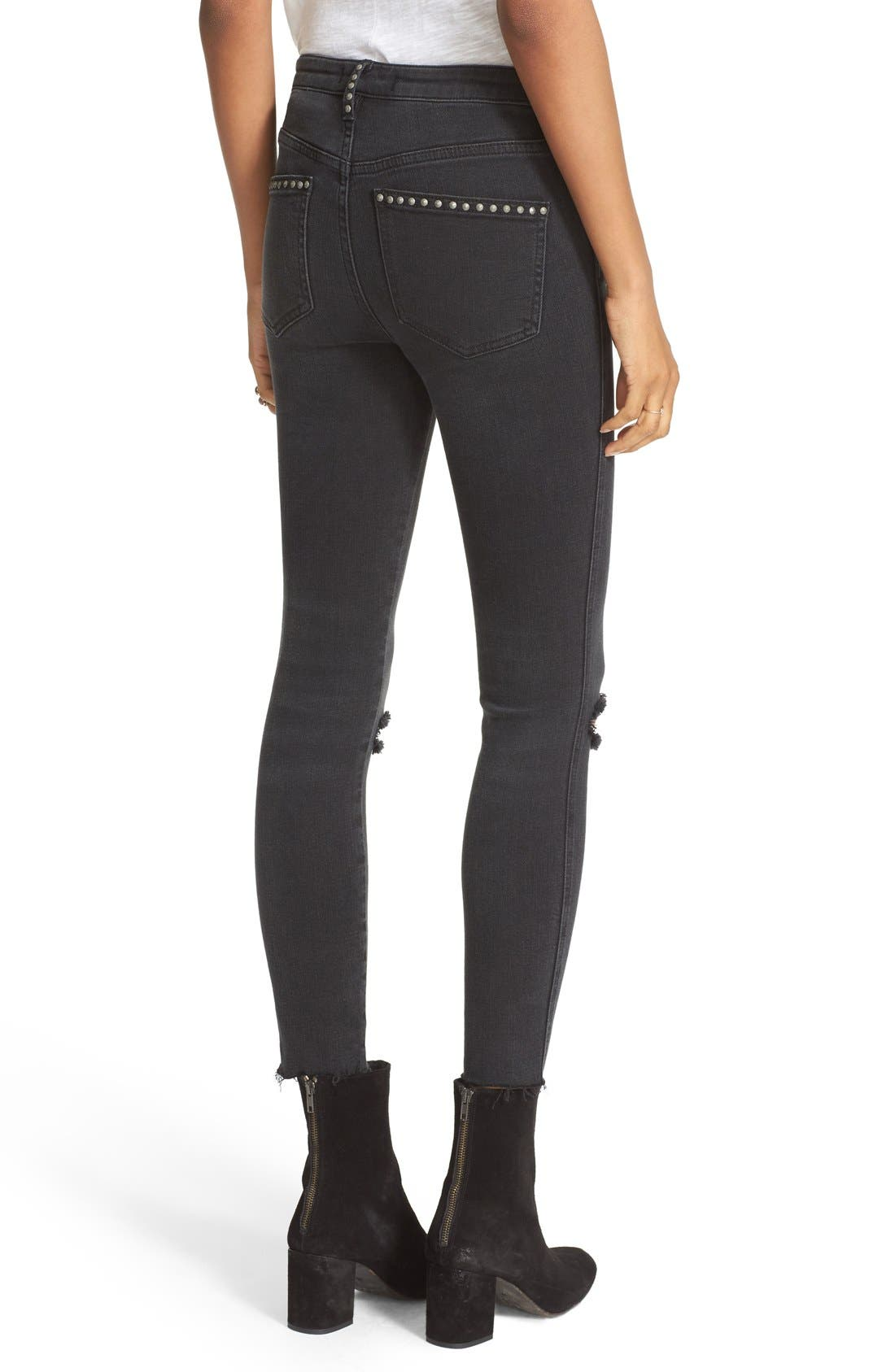 Alternate Image 2  - Free People Ripped Skinny Jeans