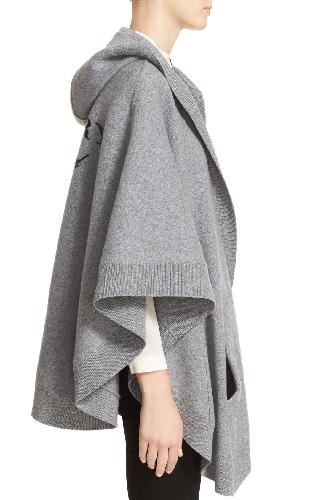 Alternate Image 3  - Burberry Carla Hooded Knit Poncho