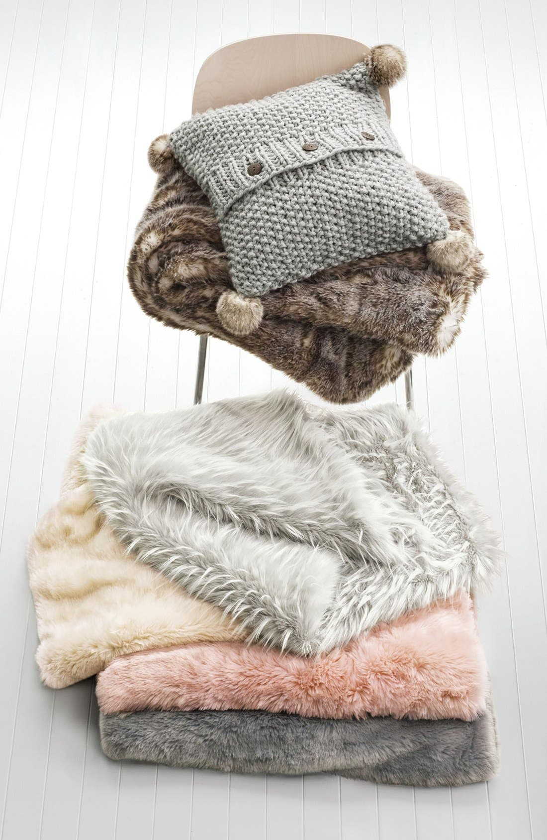 Alternate Image 3  - Nordstrom at Home Cuddle Up Faux Fur Throw Blanket