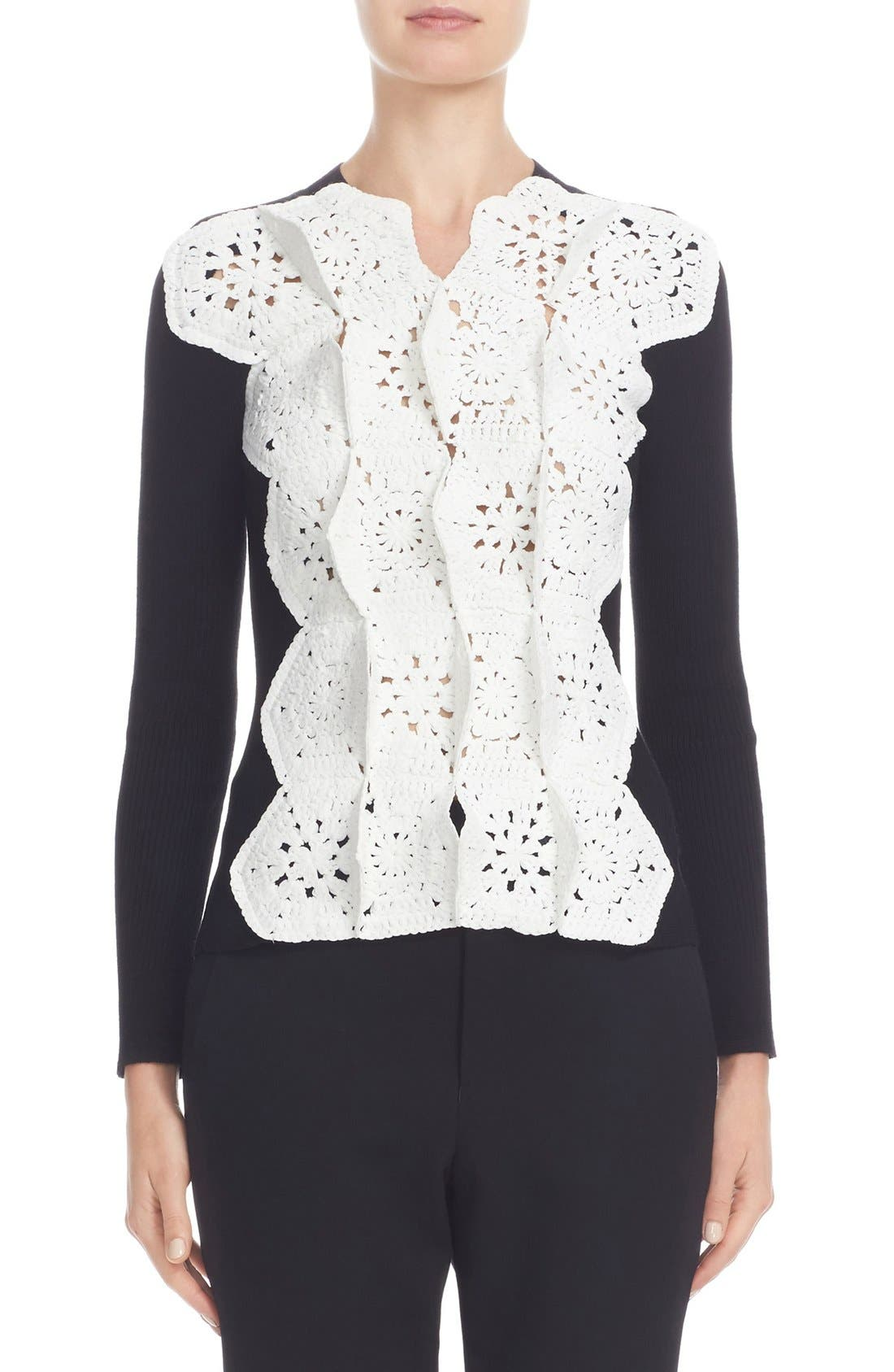 Alternate Image 1 Selected - Junya Watanabe Crochet Lace Sweater