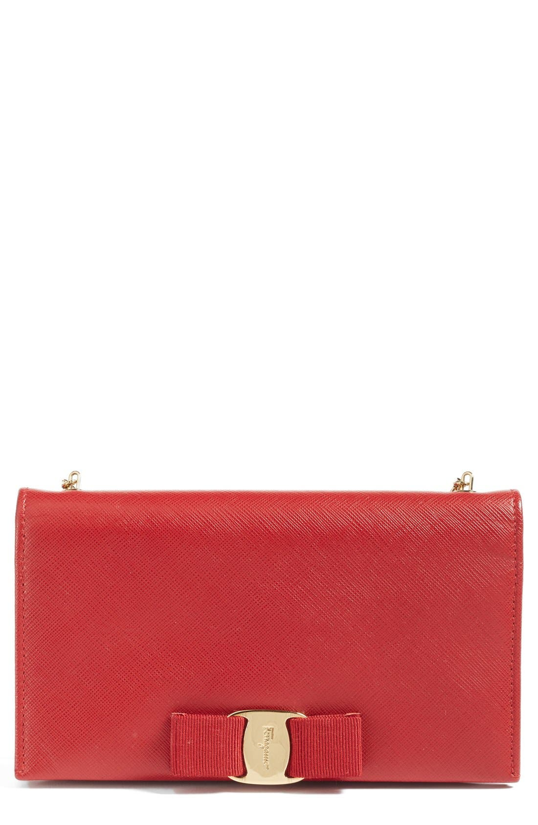Alternate Image 1 Selected - Salavatore Ferragamo 'Miss Vara' Leather Wallet on a Chain