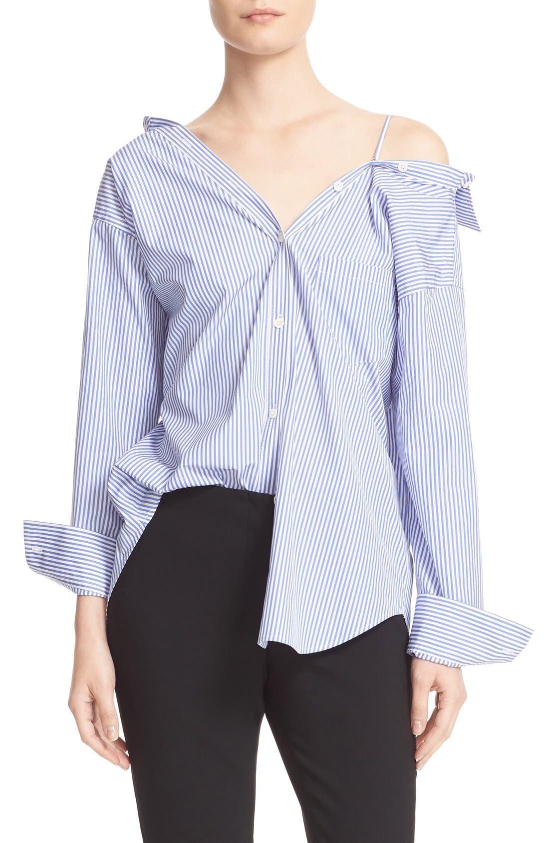Main Image - Theory Tamalee Off the Shoulder Shirt