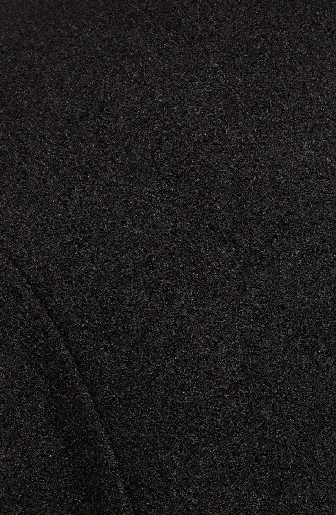 Alternate Image 5  - kensie Removable Faux Fur Collar Skirted Coat