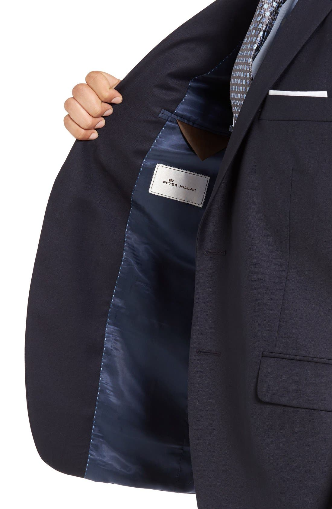 Alternate Image 4  - Peter Millar 'Flynn' Classic Fit Navy Wool Blazer