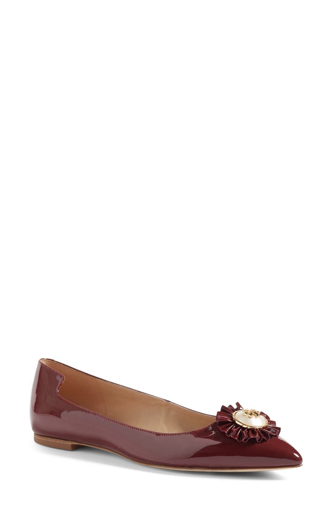 Main Image - Tory Burch Melody Pointy Toe Flat (Women)