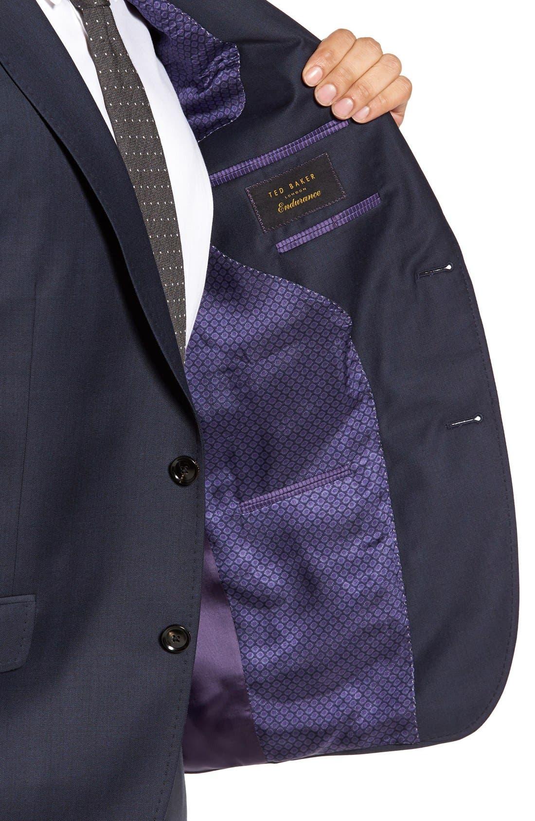 Alternate Image 4  - Ted Baker London Jones Trim Fit Solid Wool Suit