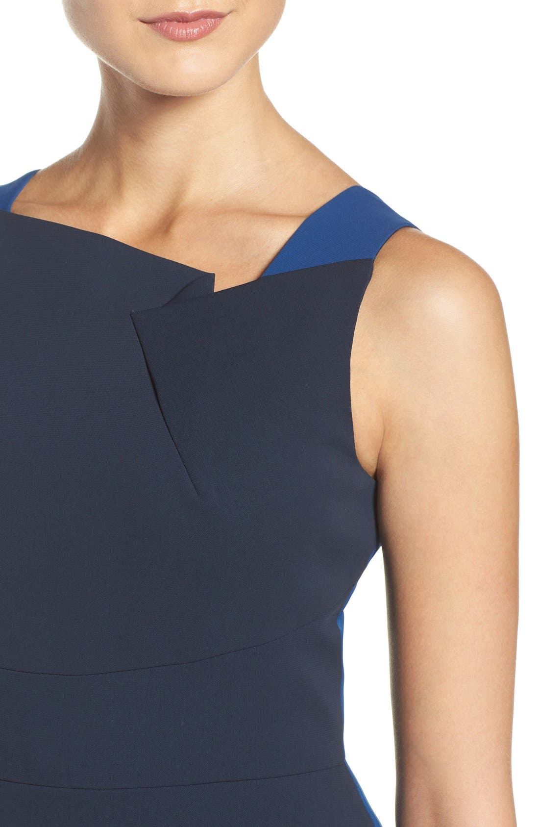 Alternate Image 5  - Adrianna Papell Colorblock Stretch Sheath Dress