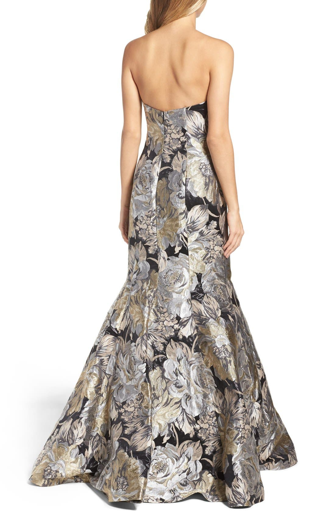 Alternate Image 2  - Jovani Metallic Mermaid Gown