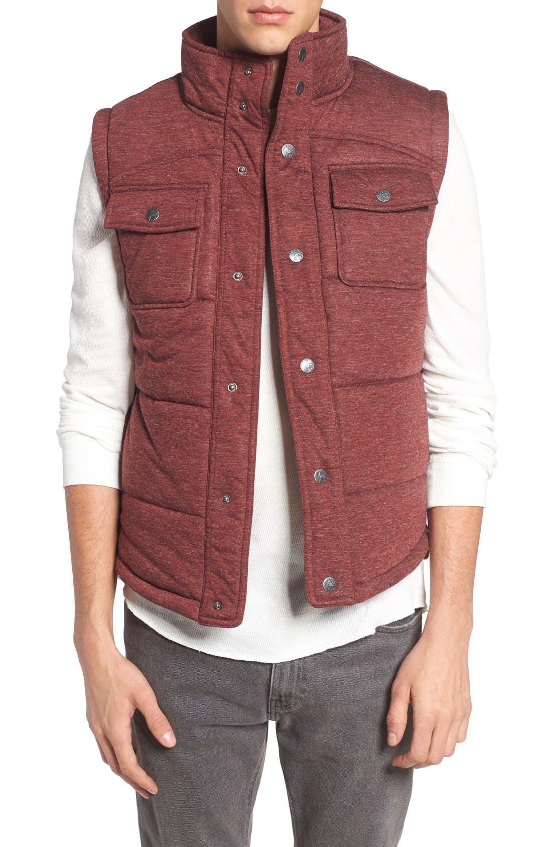 Main Image - Kane & Unke Heathered Jersey Vest