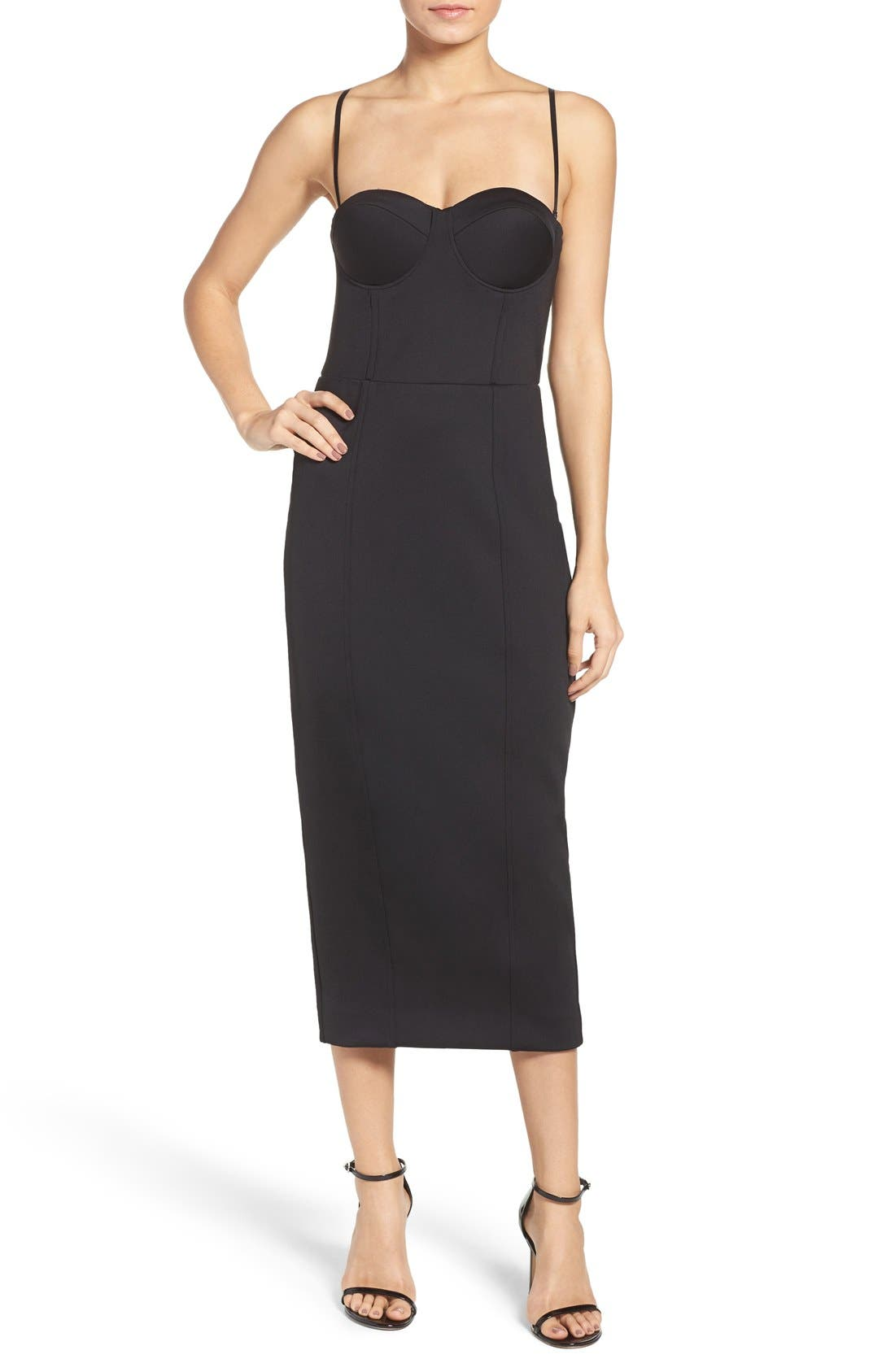 Alternate Image 4  - Misha Collection Gabrielle Midi Dress (Nordstrom Exclusive)