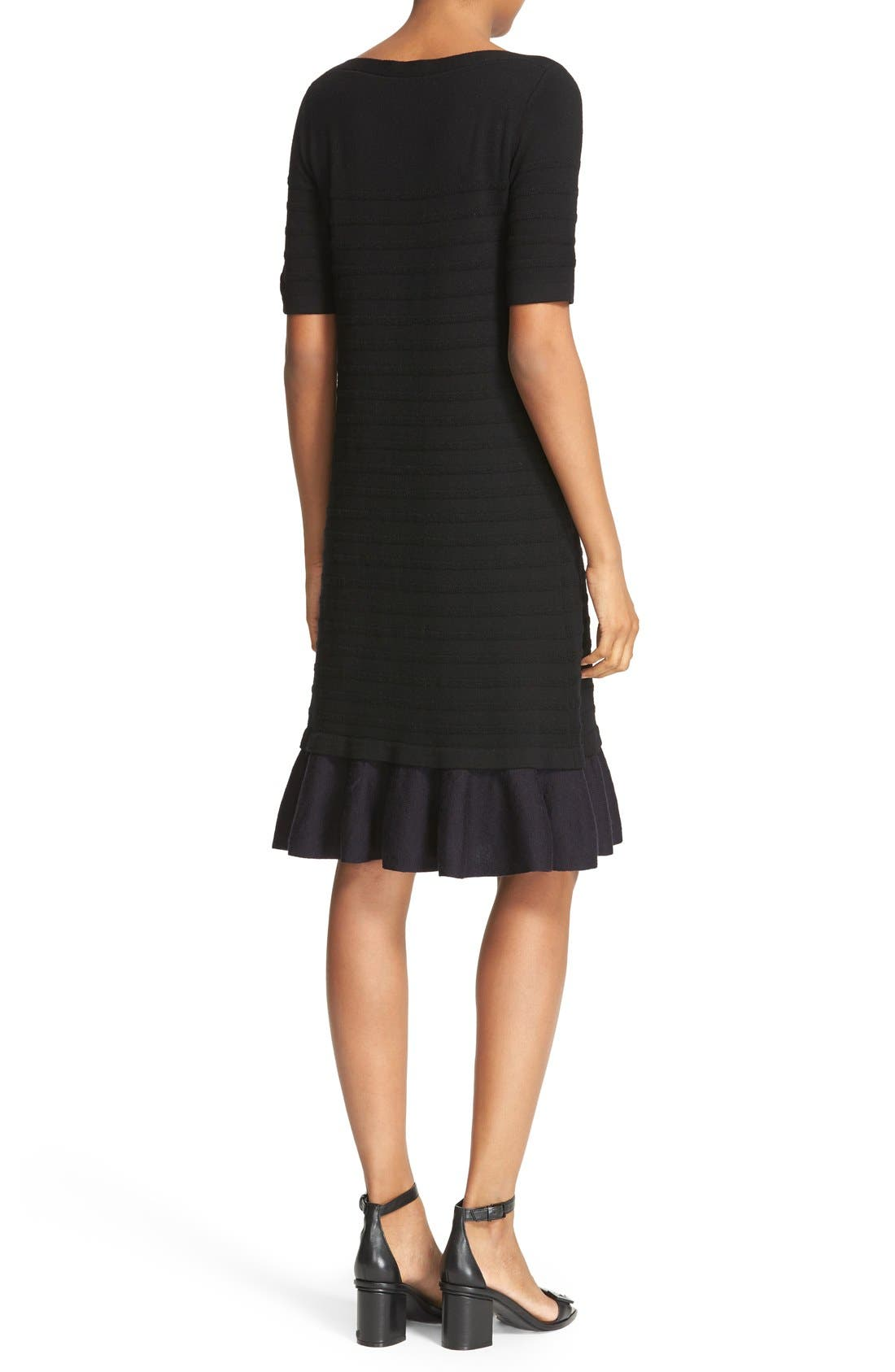 Alternate Image 2  - Tory Burch Giselle Textured Merino Wool Sweater Dress