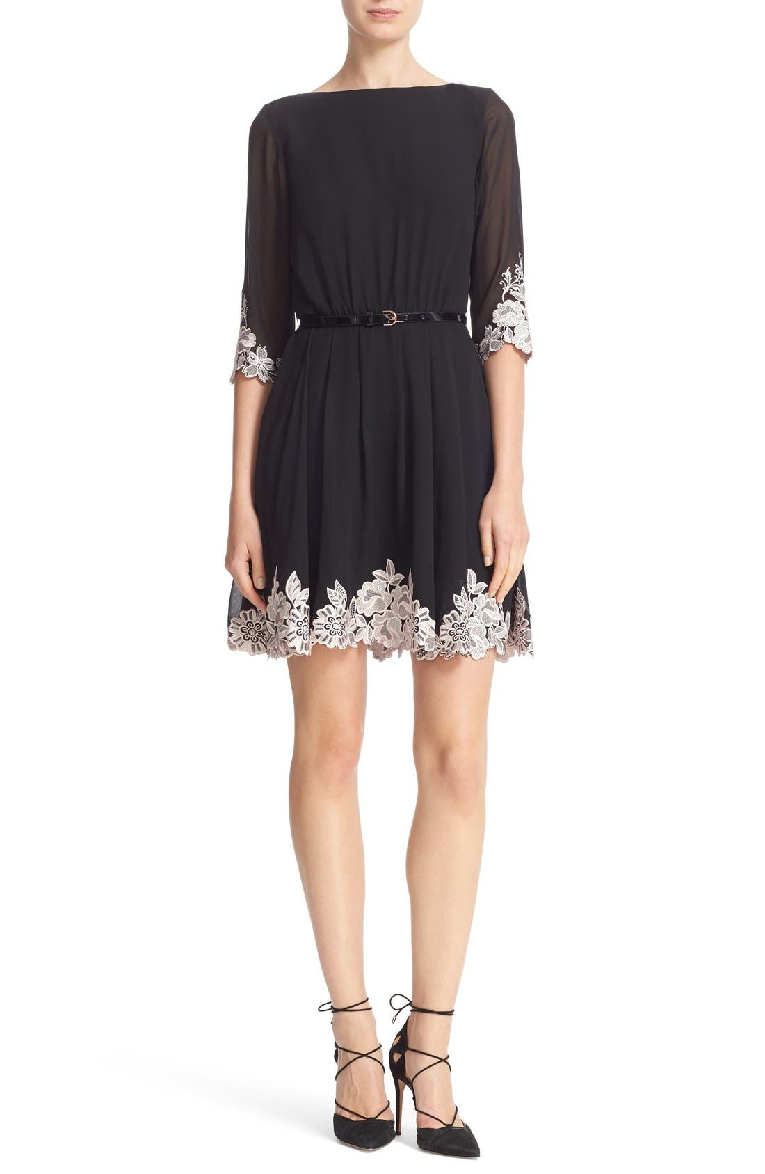 Main Image - Ted Baker London Feay Belted Lace Embellished Dress