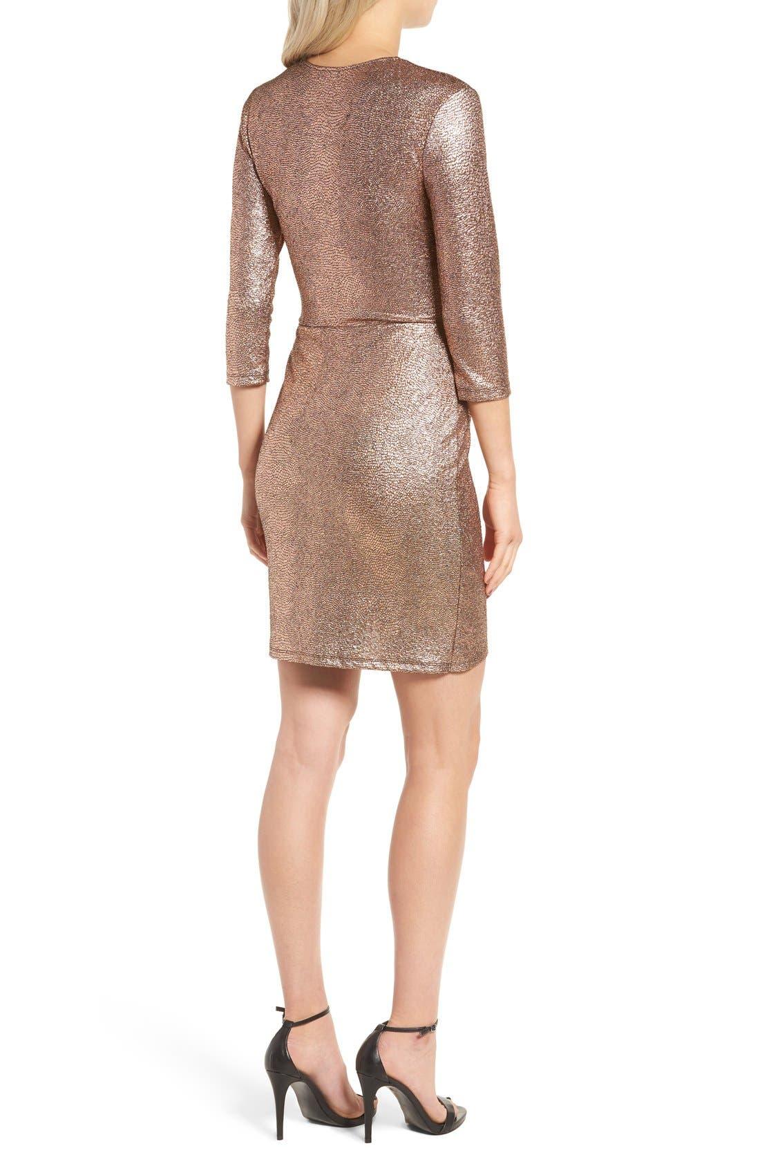 Alternate Image 2  - Leith Metallic Body-Con Dress