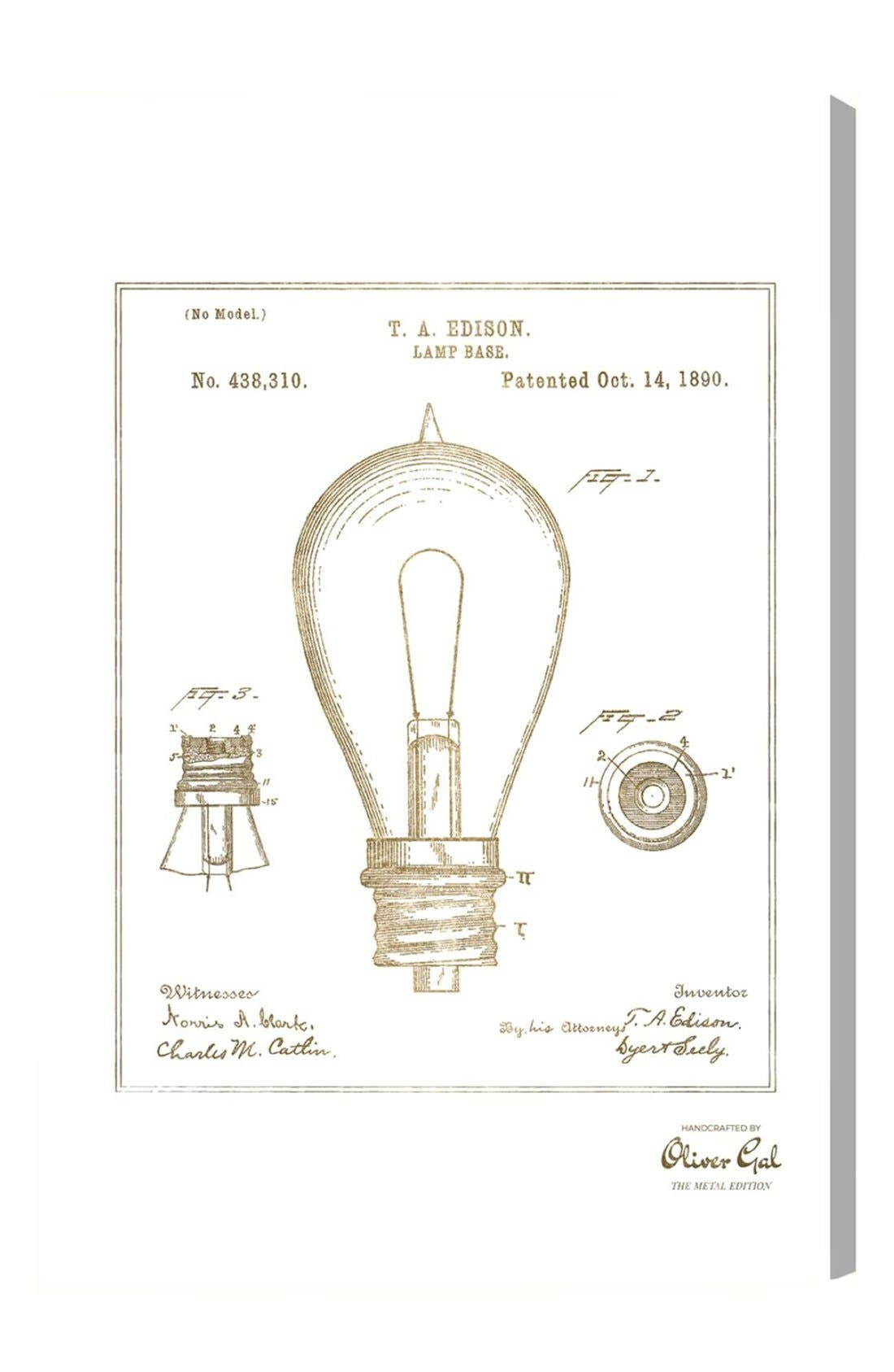 Oliver Gal Edison Lamp Base 1890 Canvas Print